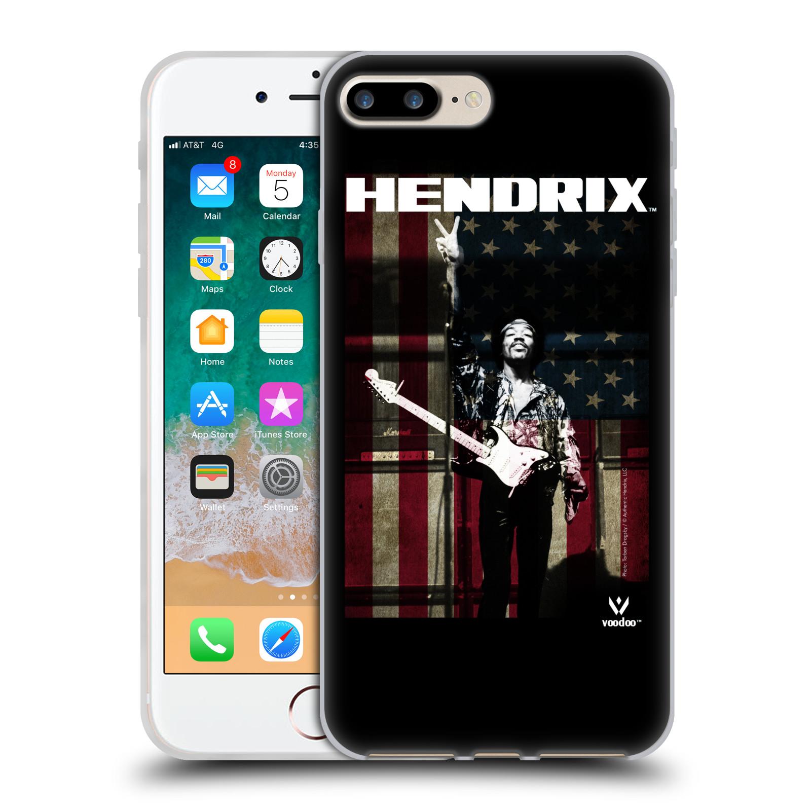HEAD CASE silikonový obal na mobil Apple Iphone 7 PLUS Jimi Hendrix Americká vlajka