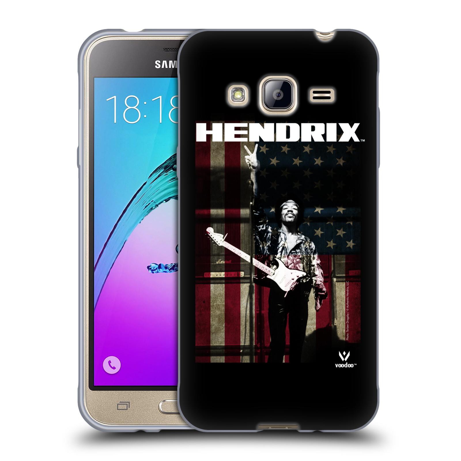 HEAD CASE silikonový obal na mobil Samsung Galaxy J3, J3 2016 Jimi Hendrix Americká vlajka