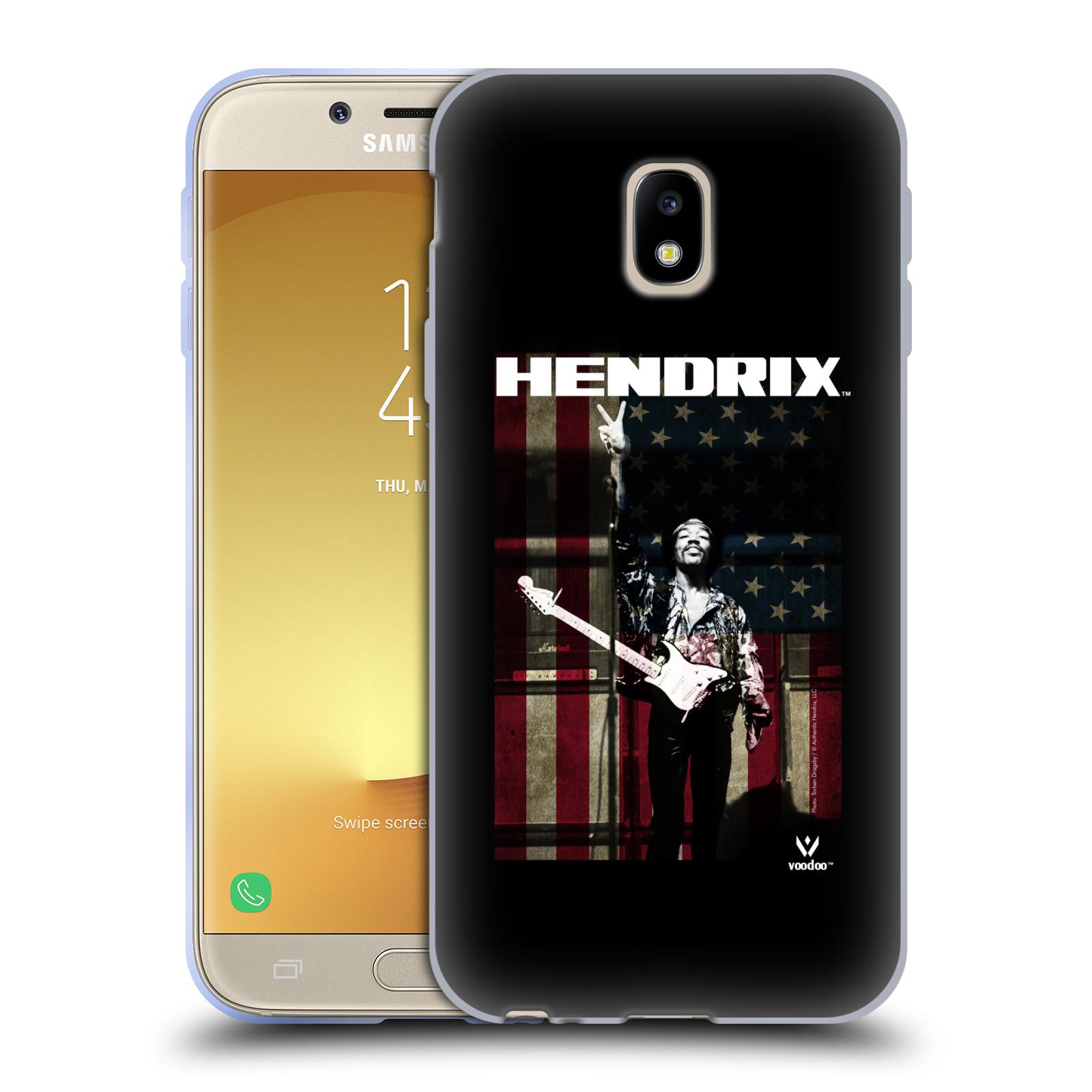 HEAD CASE silikonový obal na mobil Samsung Galaxy J3 2017 (J330, J330F) Jimi Hendrix Americká vlajka