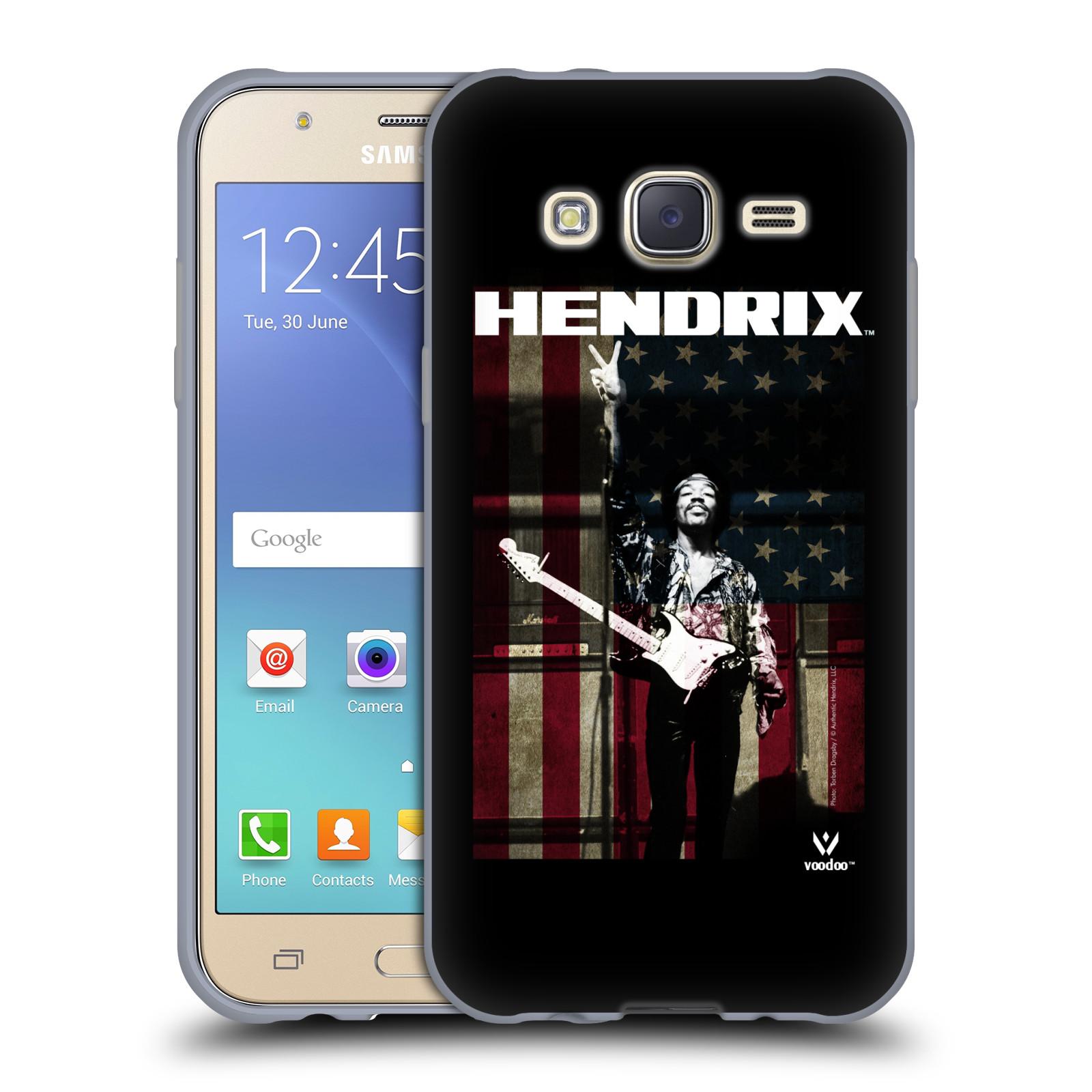 HEAD CASE silikonový obal na mobil Samsung Galaxy J5 2015 (J500) Jimi Hendrix Americká vlajka