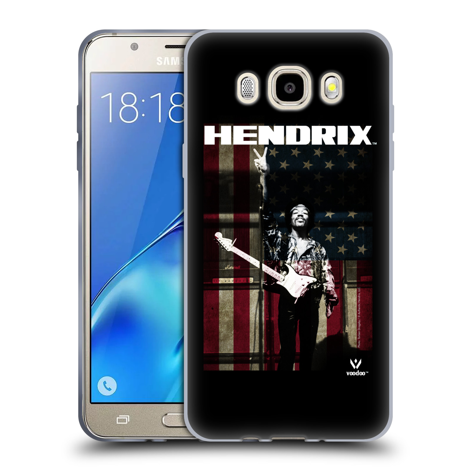 HEAD CASE silikonový obal na mobil Samsung Galaxy J5 2016 (J510) Jimi Hendrix Americká vlajka