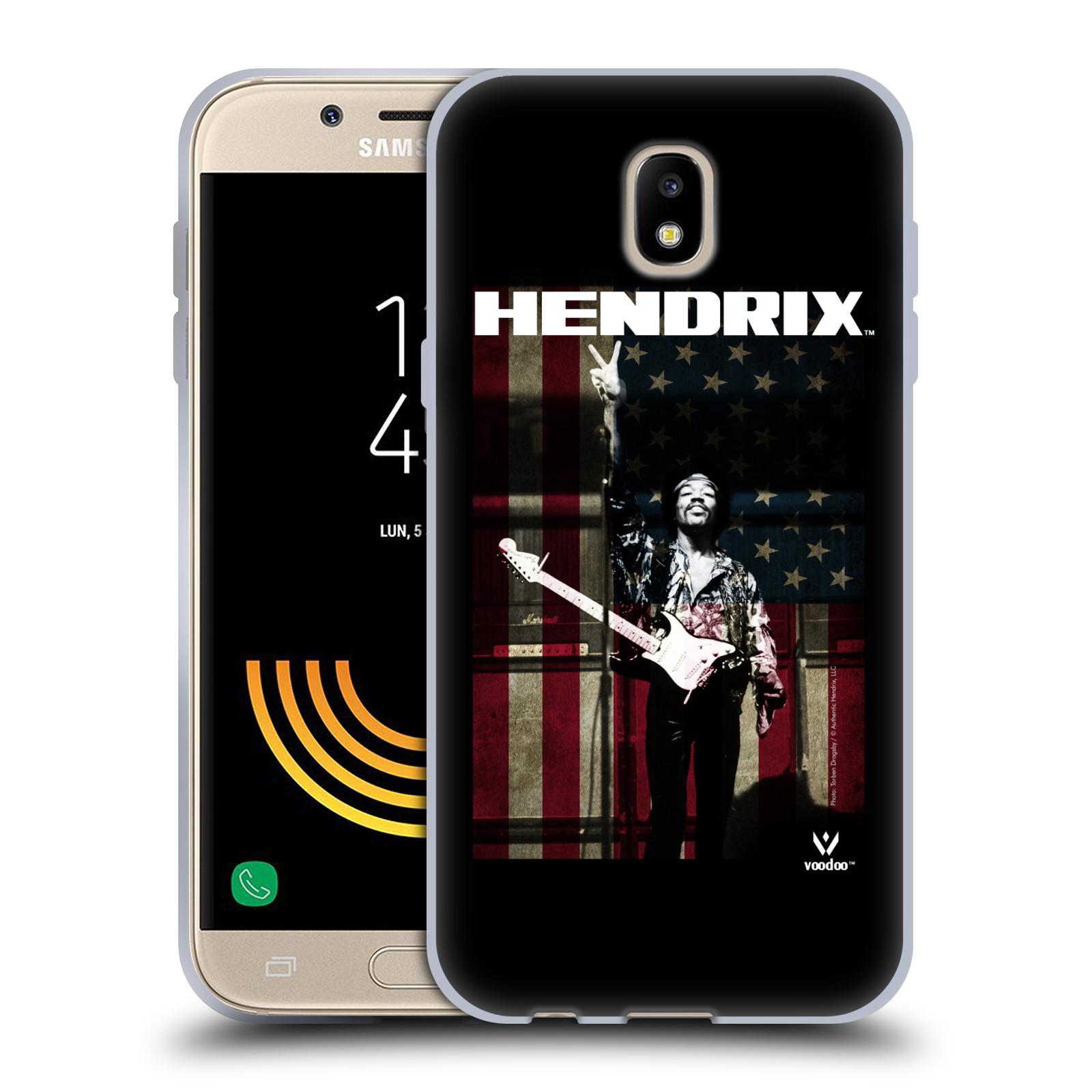HEAD CASE silikonový obal na mobil Samsung Galaxy J5 2017 Jimi Hendrix Americká vlajka