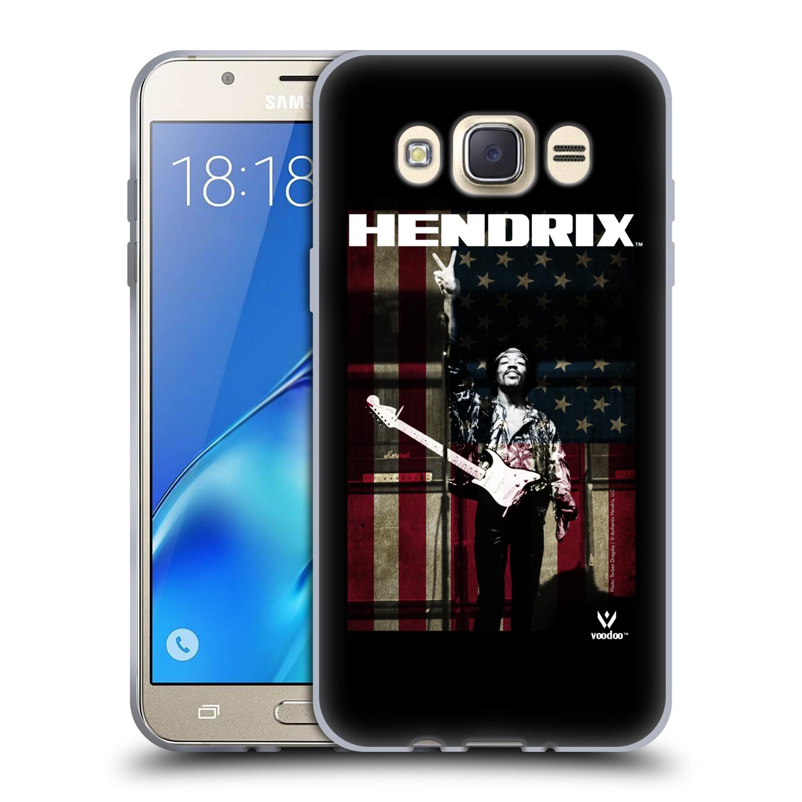 HEAD CASE silikonový obal na mobil Samsung Galaxy J7 2016 Jimi Hendrix Americká vlajka