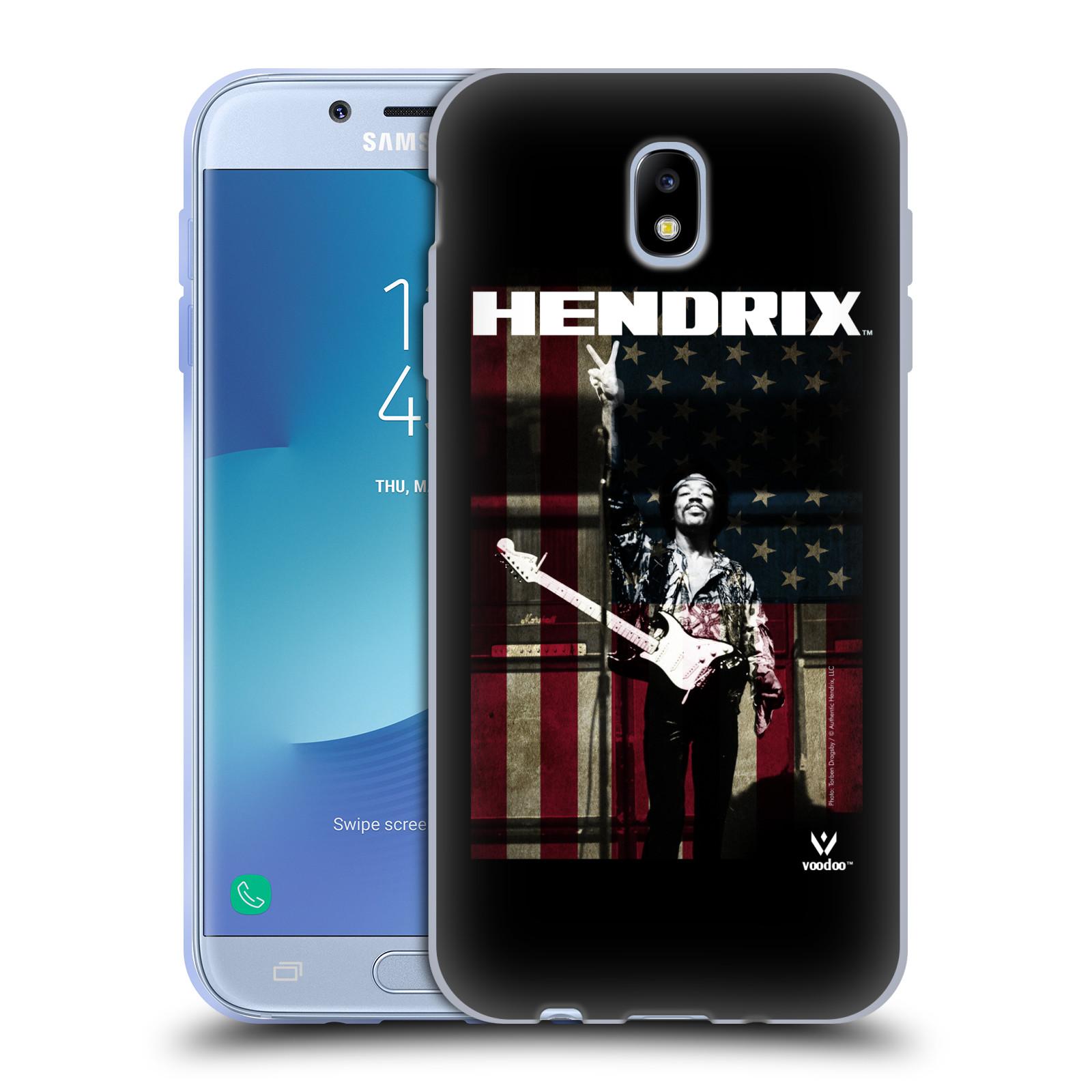 HEAD CASE silikonový obal na mobil Samsung Galaxy J7 2017 Jimi Hendrix Americká vlajka