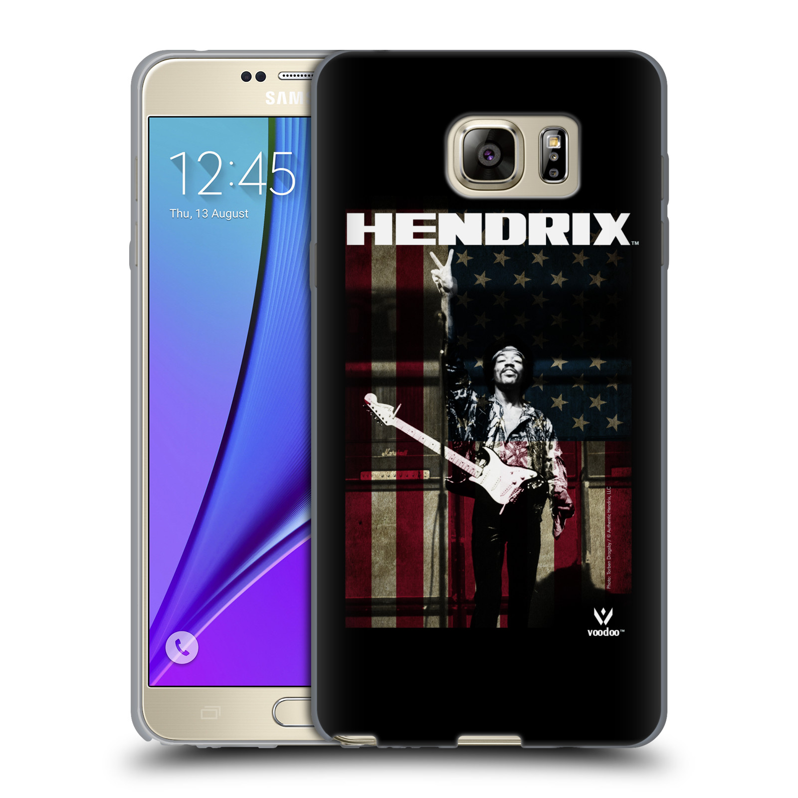 HEAD CASE silikonový obal na mobil Samsung Galaxy Note 5 Jimi Hendrix Americká vlajka