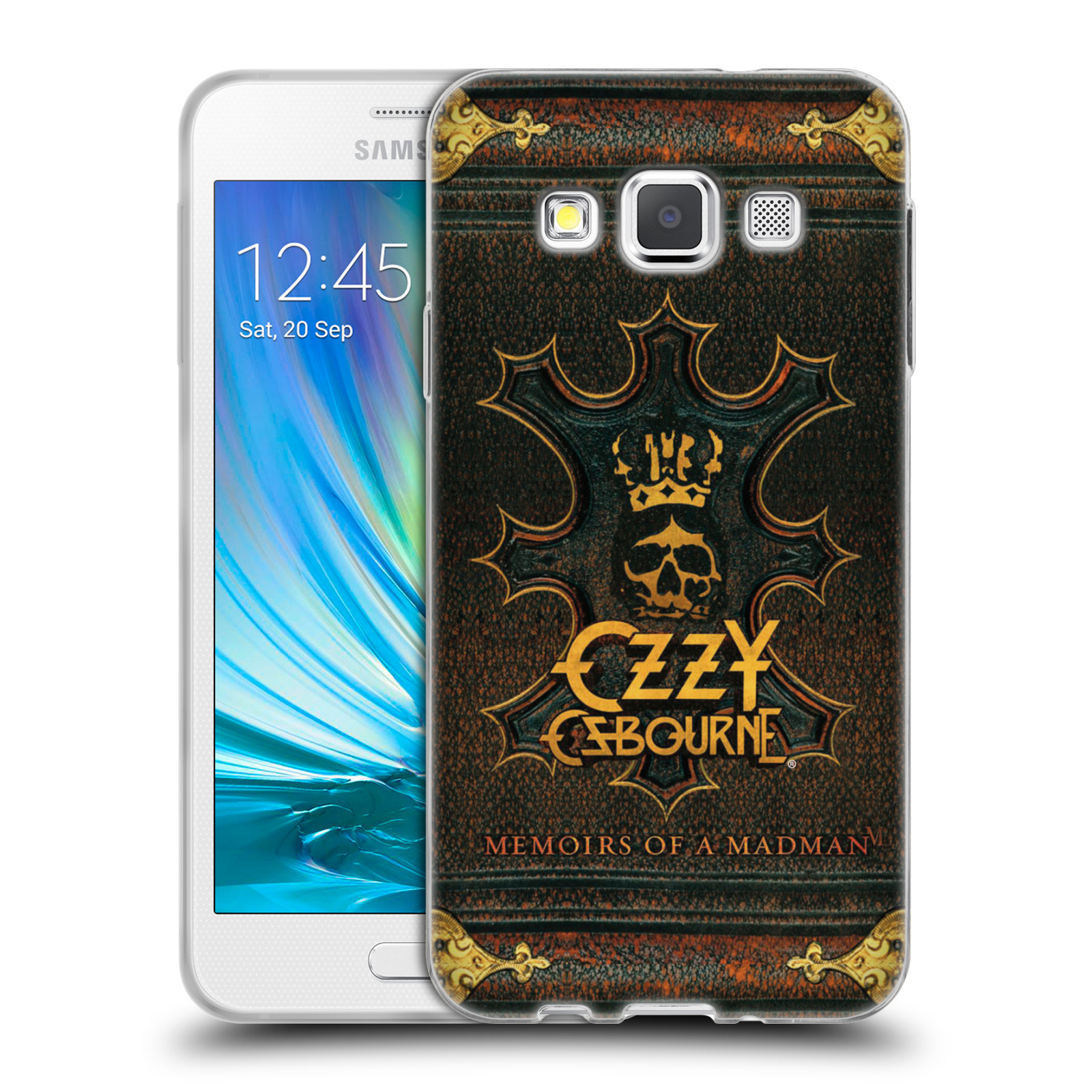 HEAD CASE silikonový obal na mobil Samsung Galaxy A3 (A300) zpěvák Ozzy Osbourne koruna