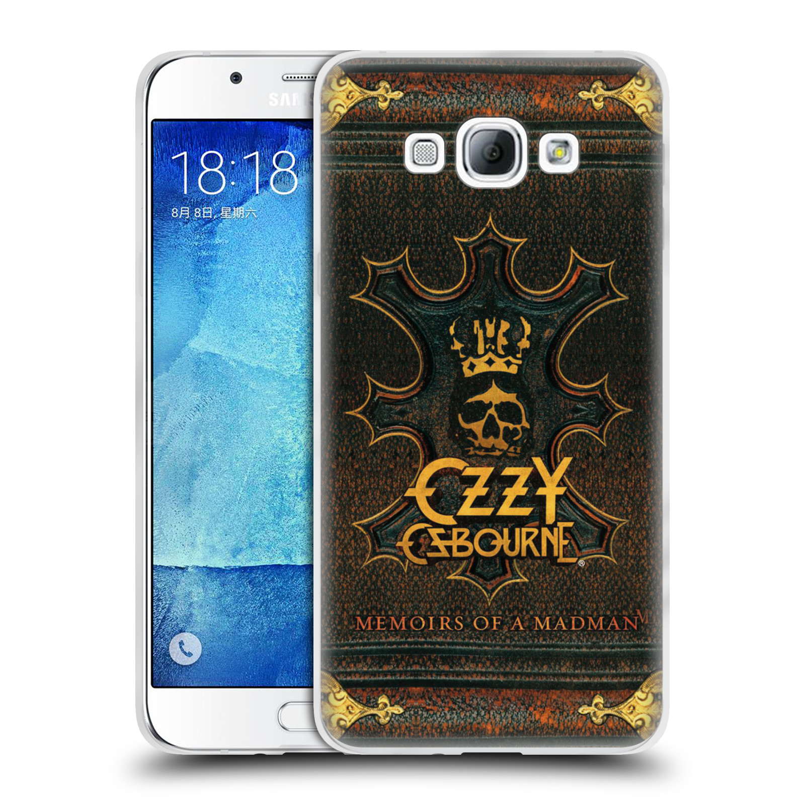 HEAD CASE silikonový obal na mobil Samsung Galaxy A8 2015 zpěvák Ozzy Osbourne koruna