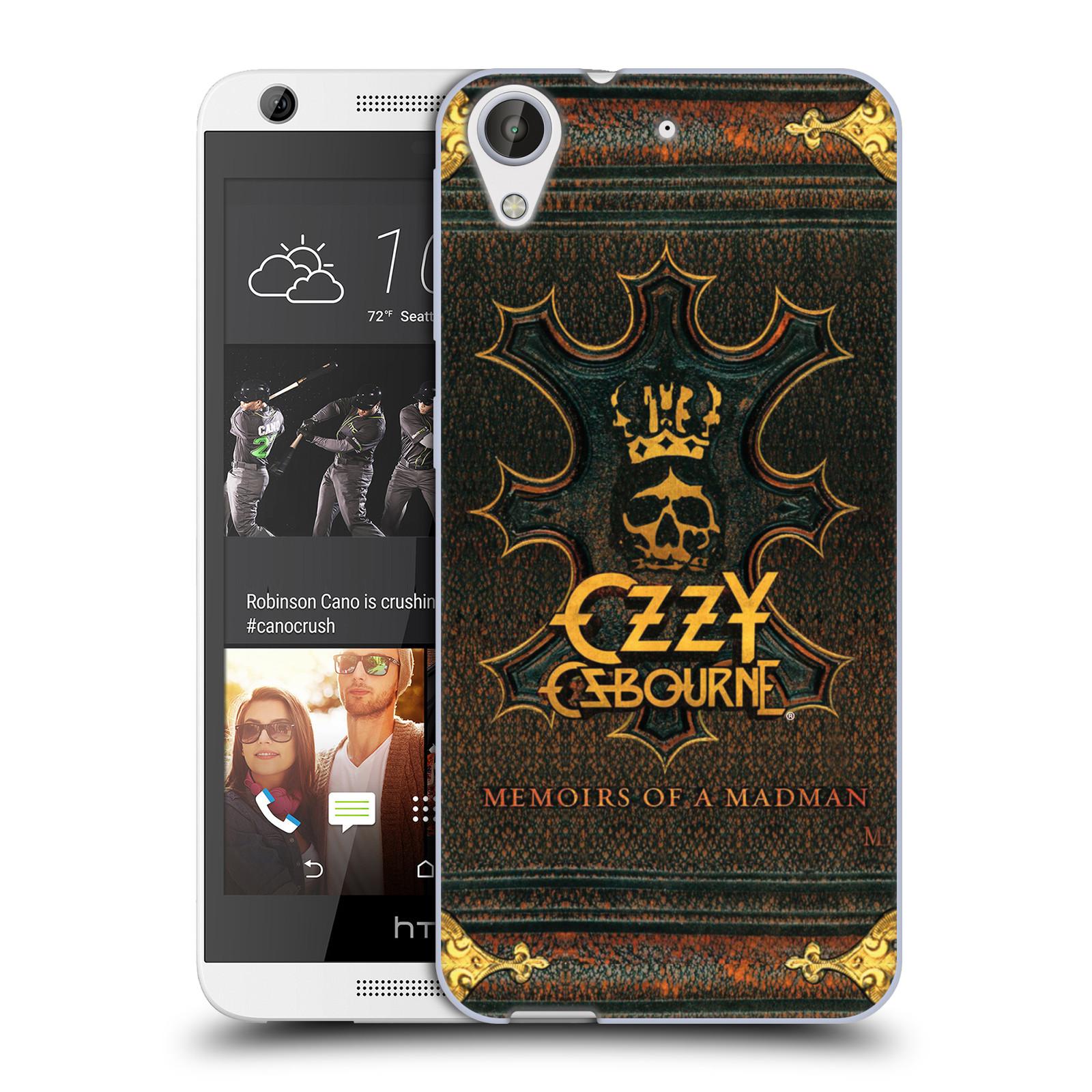 HEAD CASE silikonový obal na mobil HTC Desire 626 zpěvák Ozzy Osbourne koruna
