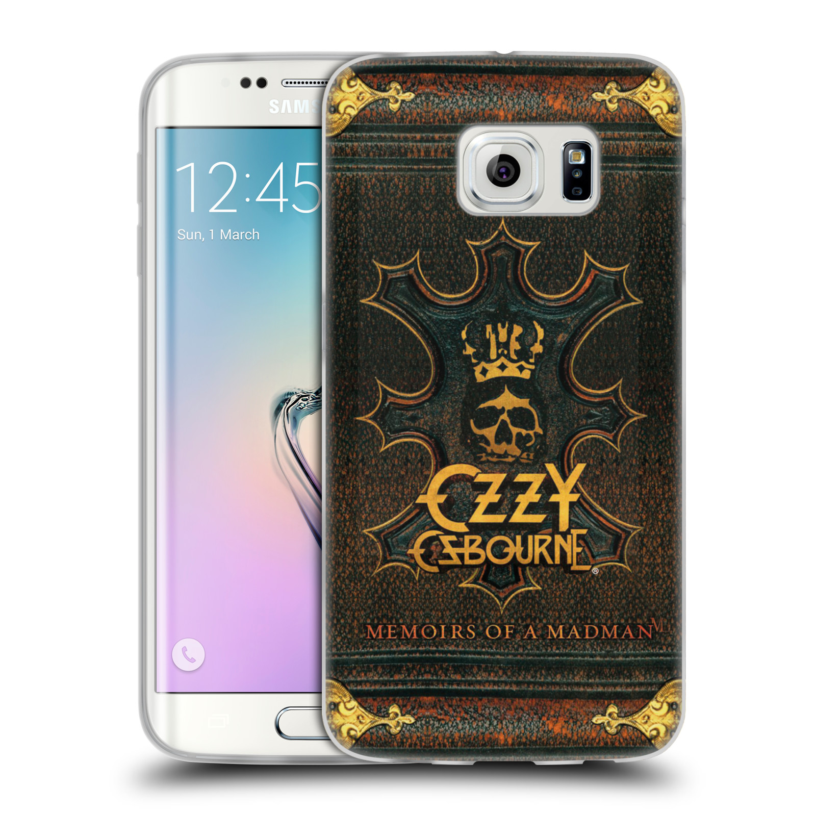 HEAD CASE silikonový obal na mobil Samsung Galaxy S6 EDGE zpěvák Ozzy Osbourne koruna