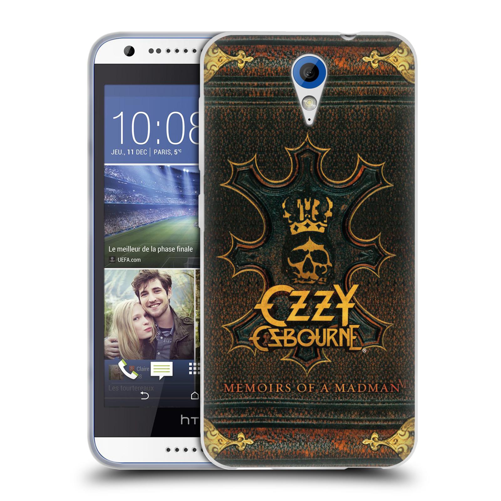 HEAD CASE silikonový obal na mobil HTC Desire 620 zpěvák Ozzy Osbourne koruna