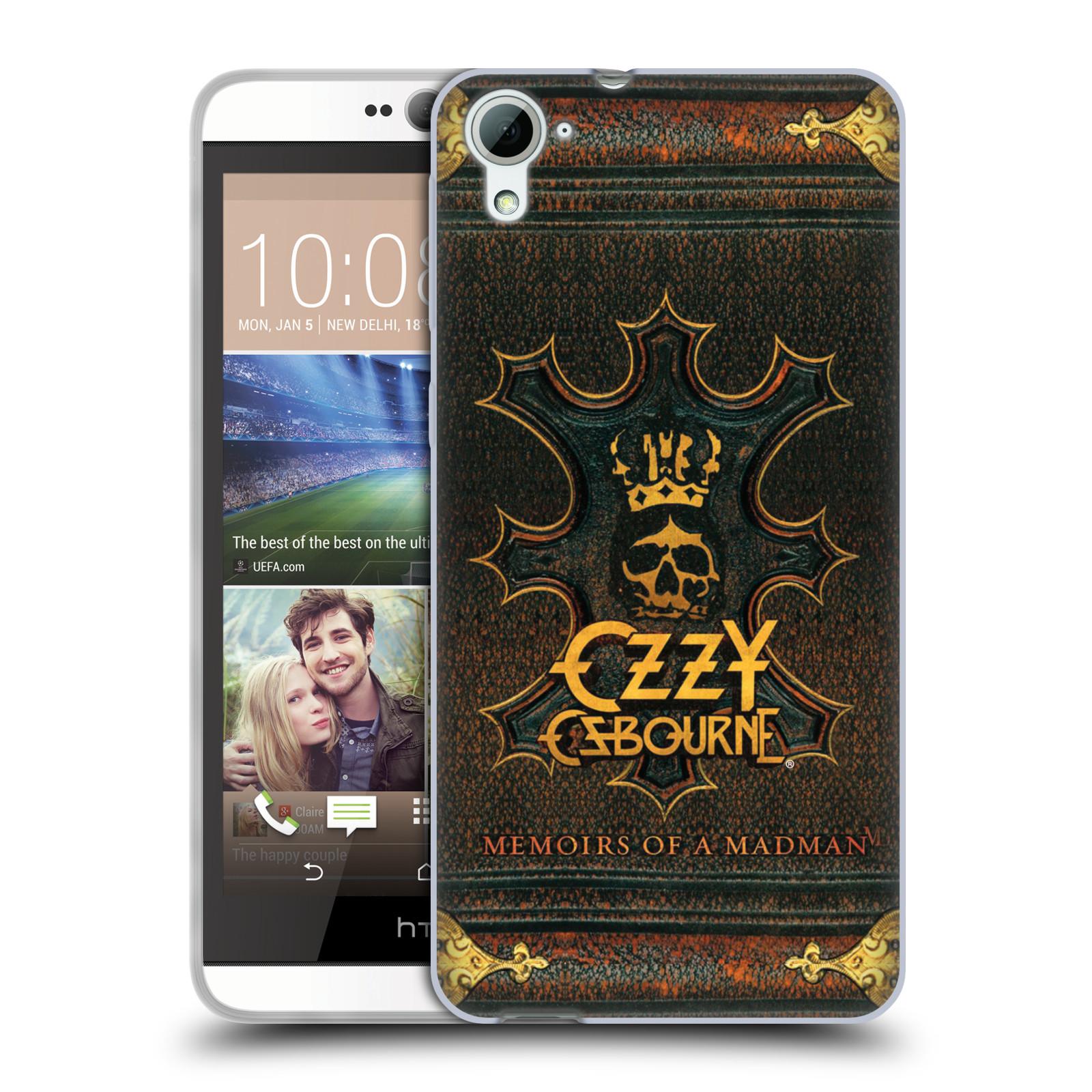 HEAD CASE silikonový obal na mobil HTC Desire 826 zpěvák Ozzy Osbourne koruna