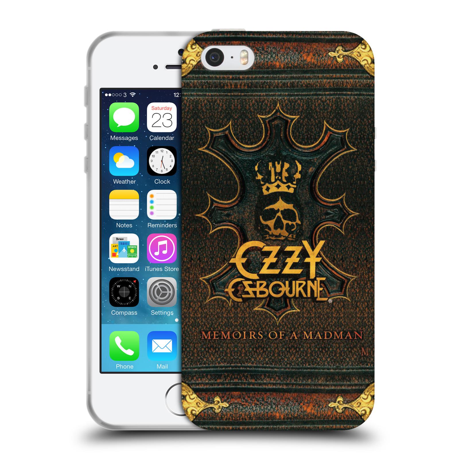 HEAD CASE silikonový obal na mobil Apple Iphone 5/5S zpěvák Ozzy Osbourne koruna