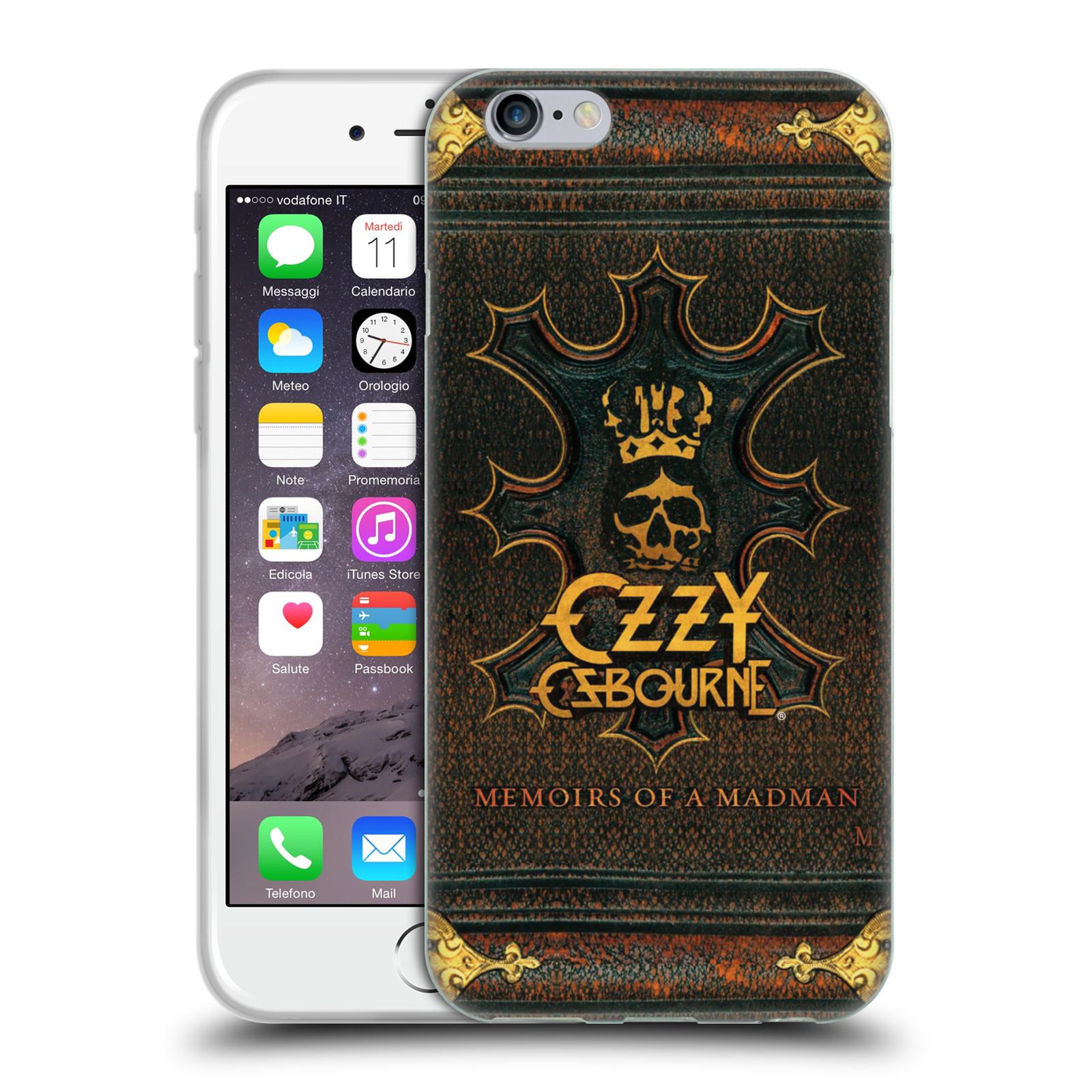 HEAD CASE silikonový obal na mobil Apple Iphone 6/6S zpěvák Ozzy Osbourne koruna