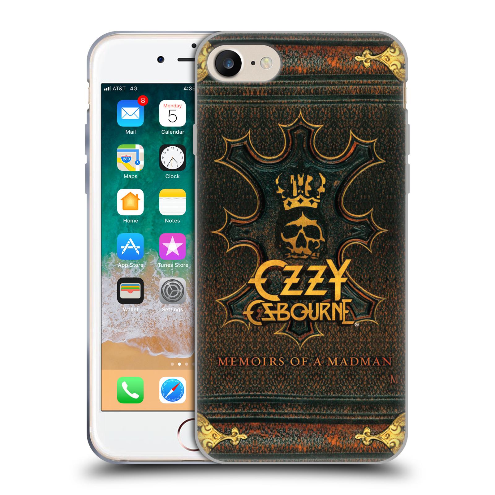HEAD CASE silikonový obal na mobil Apple Iphone 7 zpěvák Ozzy Osbourne koruna