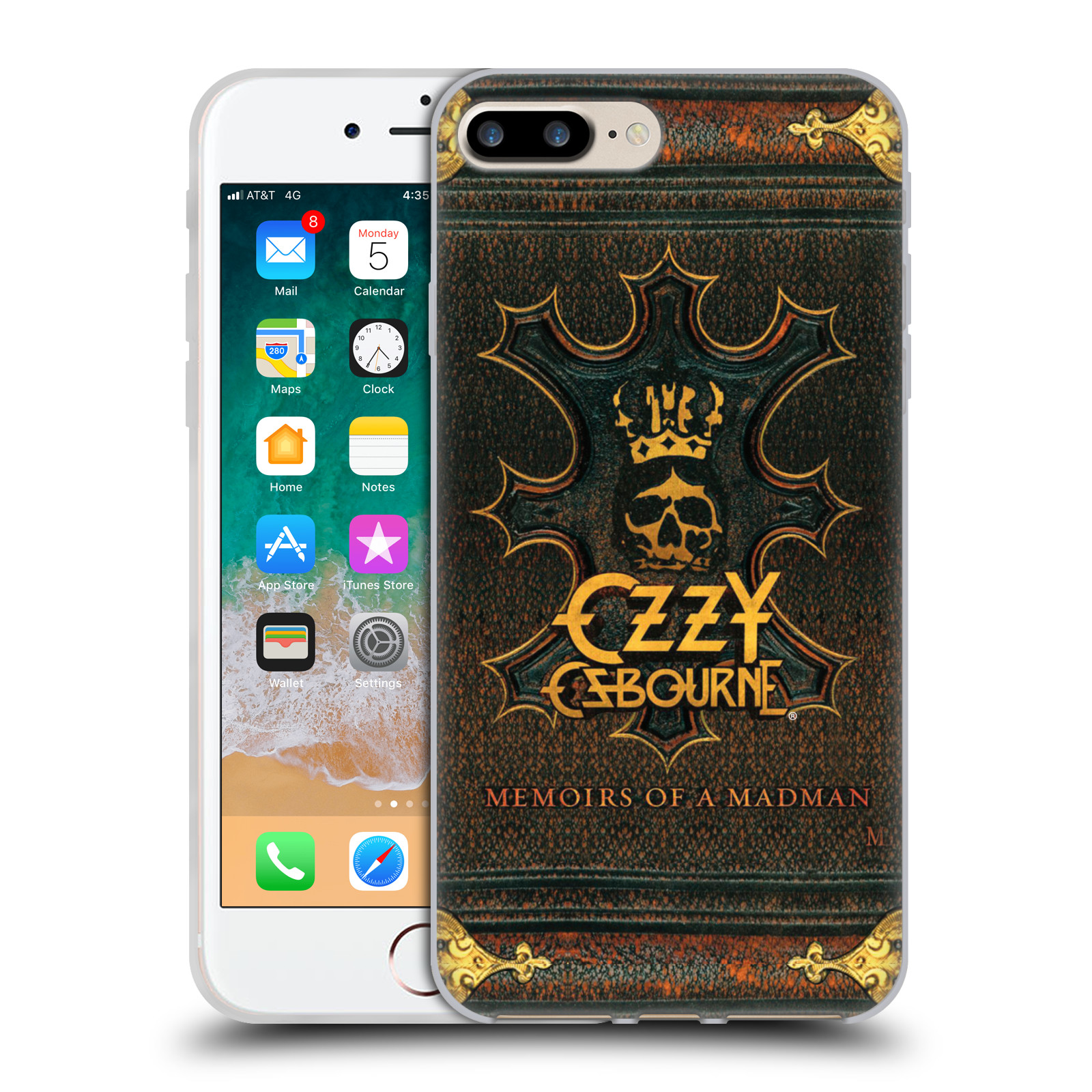 HEAD CASE silikonový obal na mobil Apple Iphone 7 PLUS zpěvák Ozzy Osbourne koruna