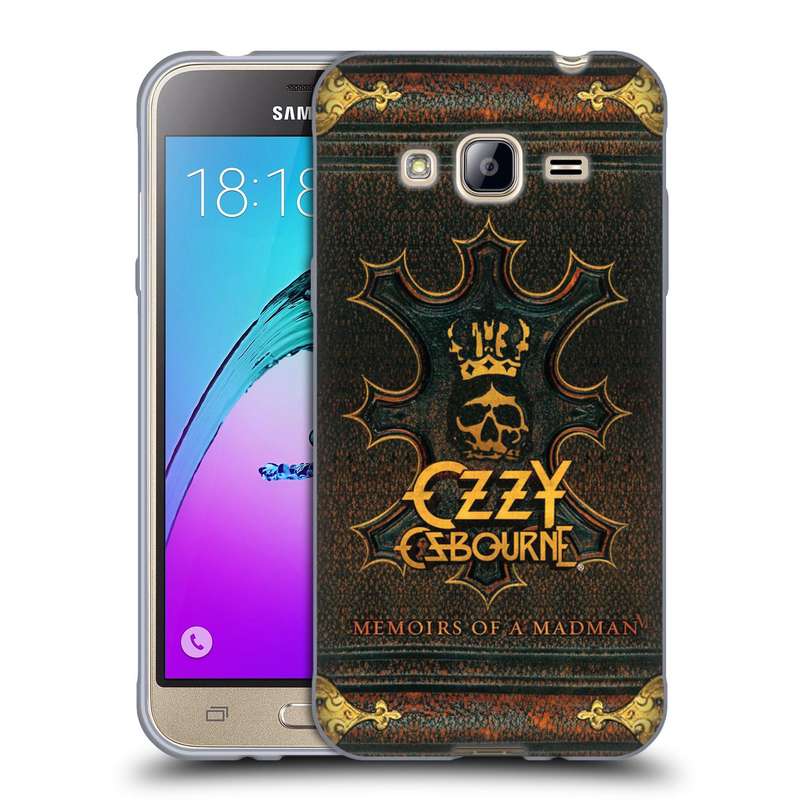HEAD CASE silikonový obal na mobil Samsung Galaxy J3, J3 2016 zpěvák Ozzy Osbourne koruna