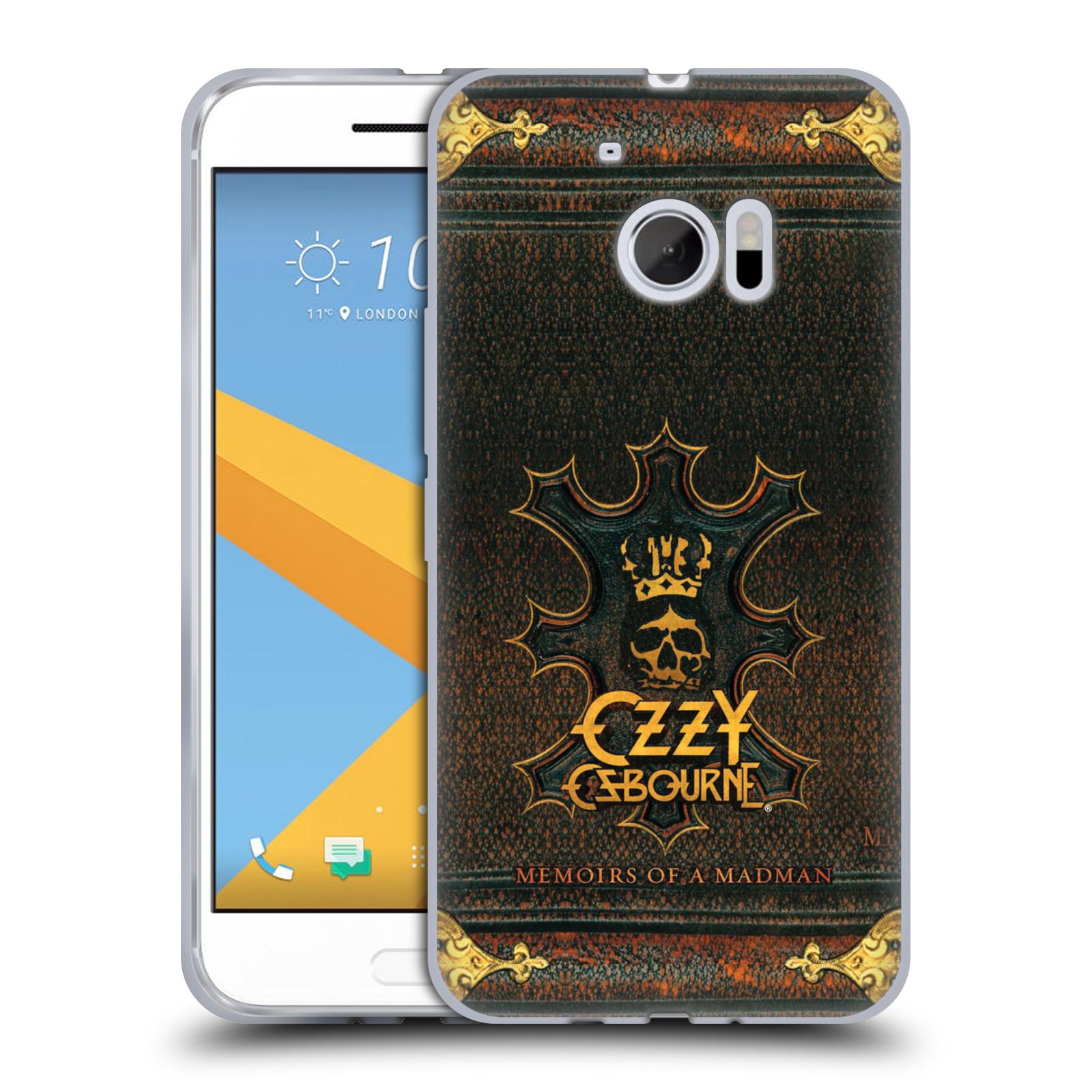 HEAD CASE silikonový obal na mobil HTC 10 zpěvák Ozzy Osbourne koruna