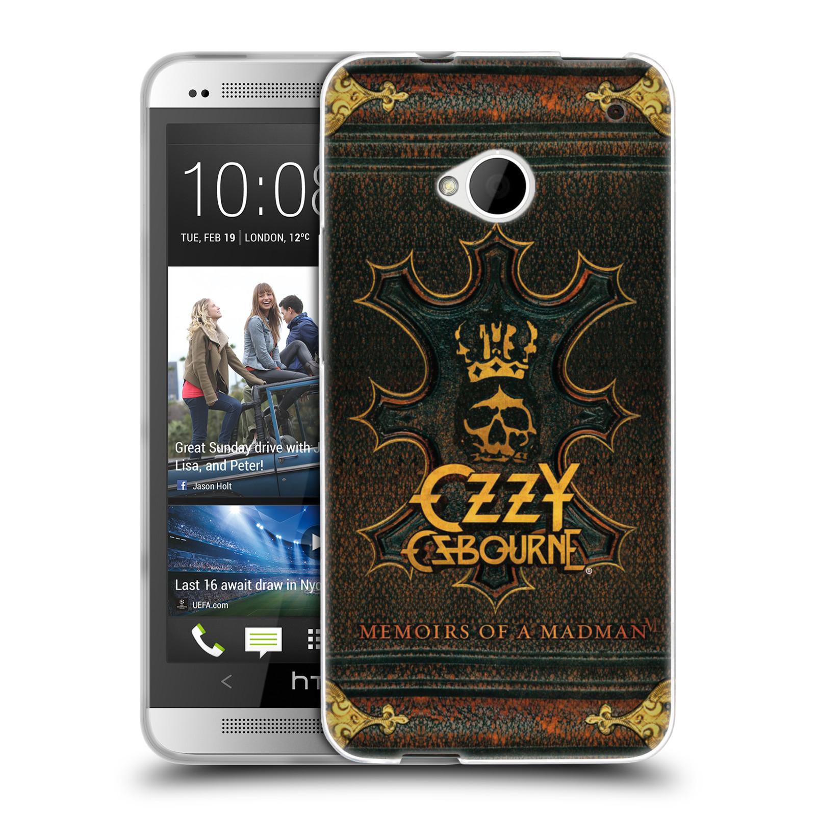 HEAD CASE silikonový obal na mobil HTC one M7 zpěvák Ozzy Osbourne koruna