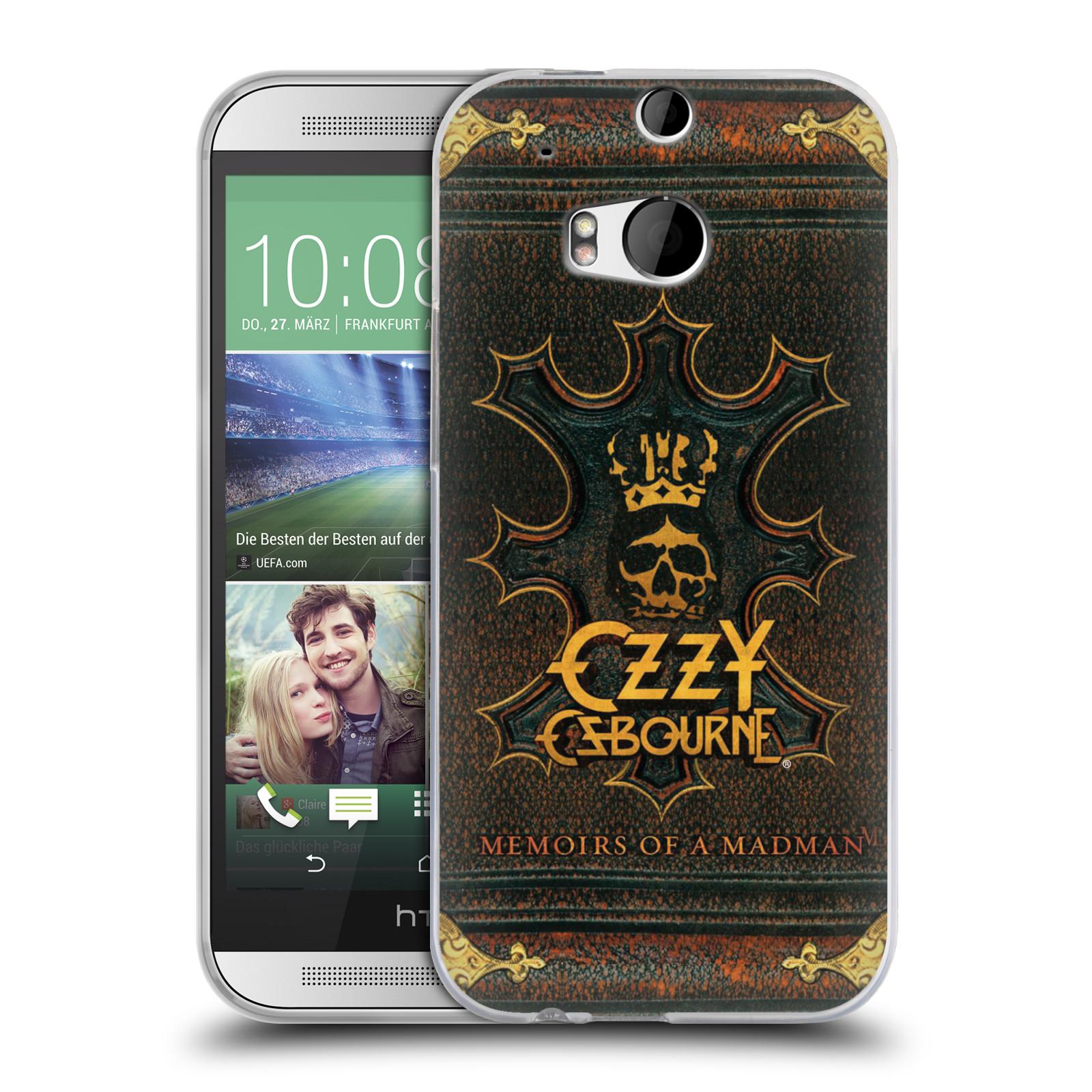 HEAD CASE silikonový obal na mobil HTC one M8 / M8s zpěvák Ozzy Osbourne koruna