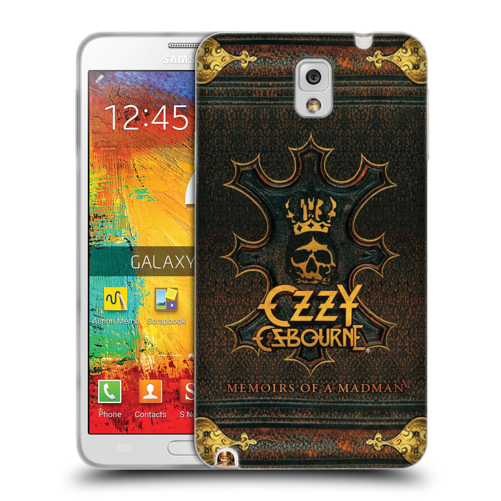 HEAD CASE silikonový obal na mobil Samsung Galaxy Note 3 zpěvák Ozzy Osbourne koruna