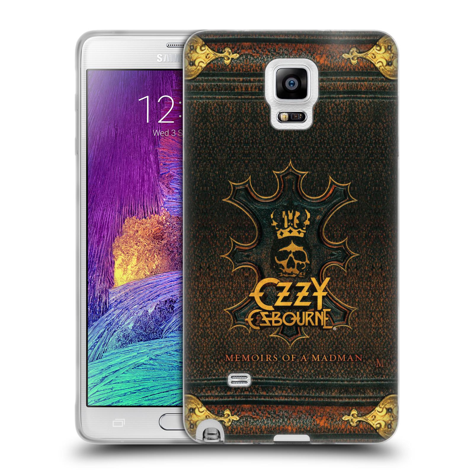 HEAD CASE silikonový obal na mobil Samsung Galaxy Note 4 zpěvák Ozzy Osbourne koruna