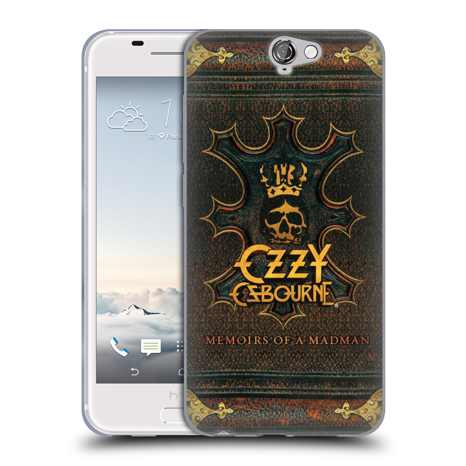 HEAD CASE silikonový obal na mobil HTC One A9 zpěvák Ozzy Osbourne koruna