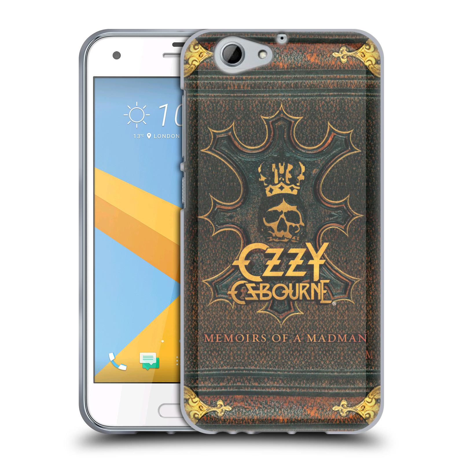 HEAD CASE silikonový obal na mobil HTC One A9s zpěvák Ozzy Osbourne koruna
