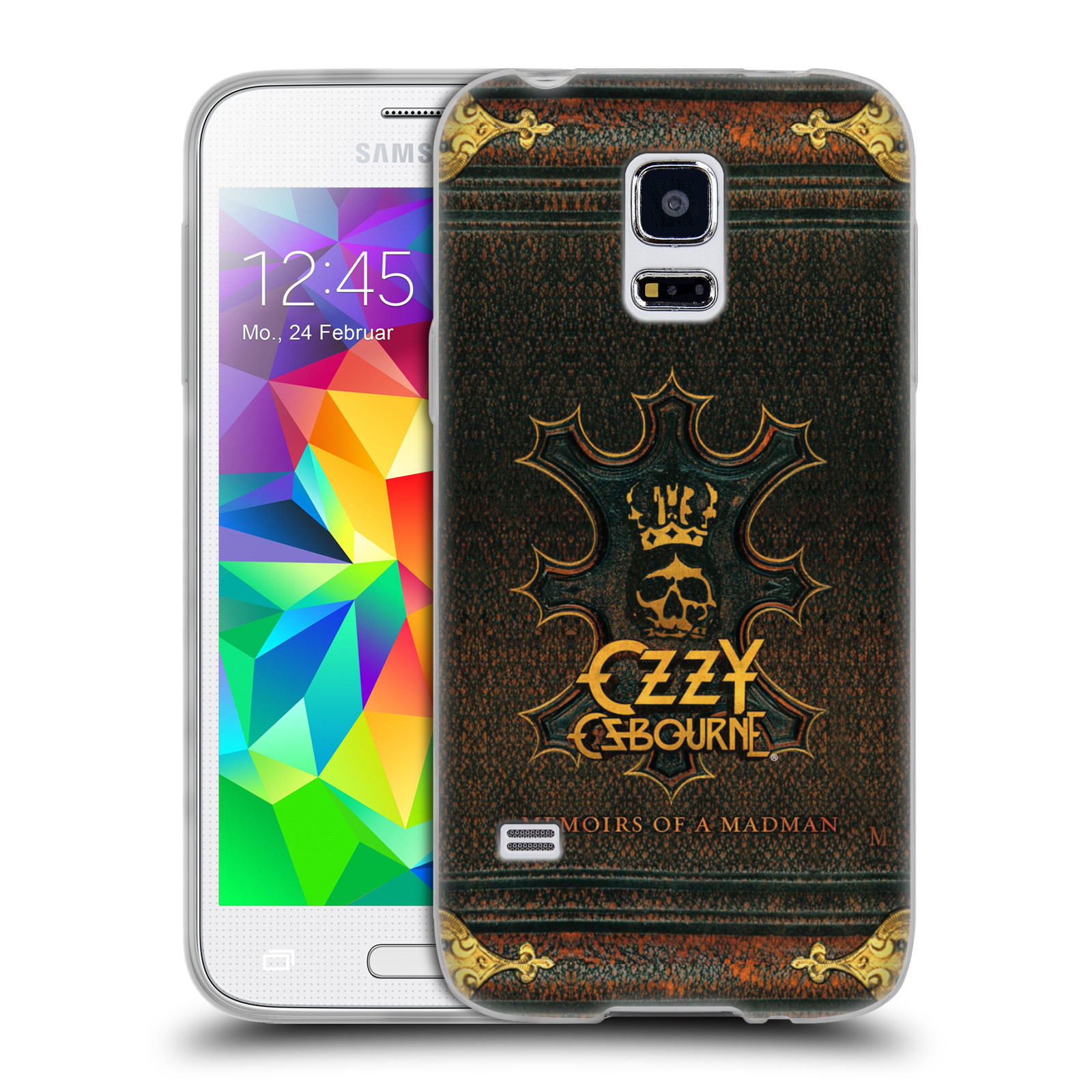 HEAD CASE silikonový obal na mobil Samsung Galaxy S5 MINI zpěvák Ozzy Osbourne koruna