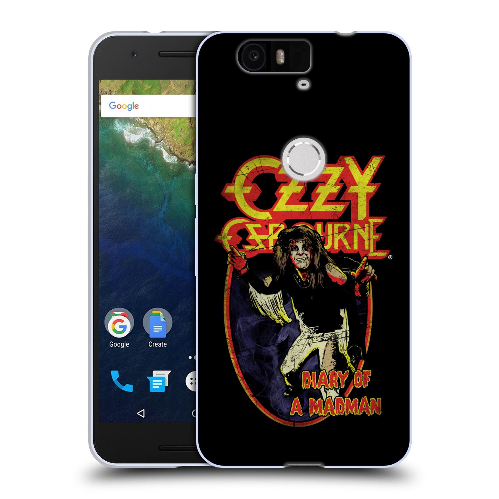 HEAD CASE silikonový obal na mobil Huawei Nexus 6P zpěvák Ozzy Osbourne Madman