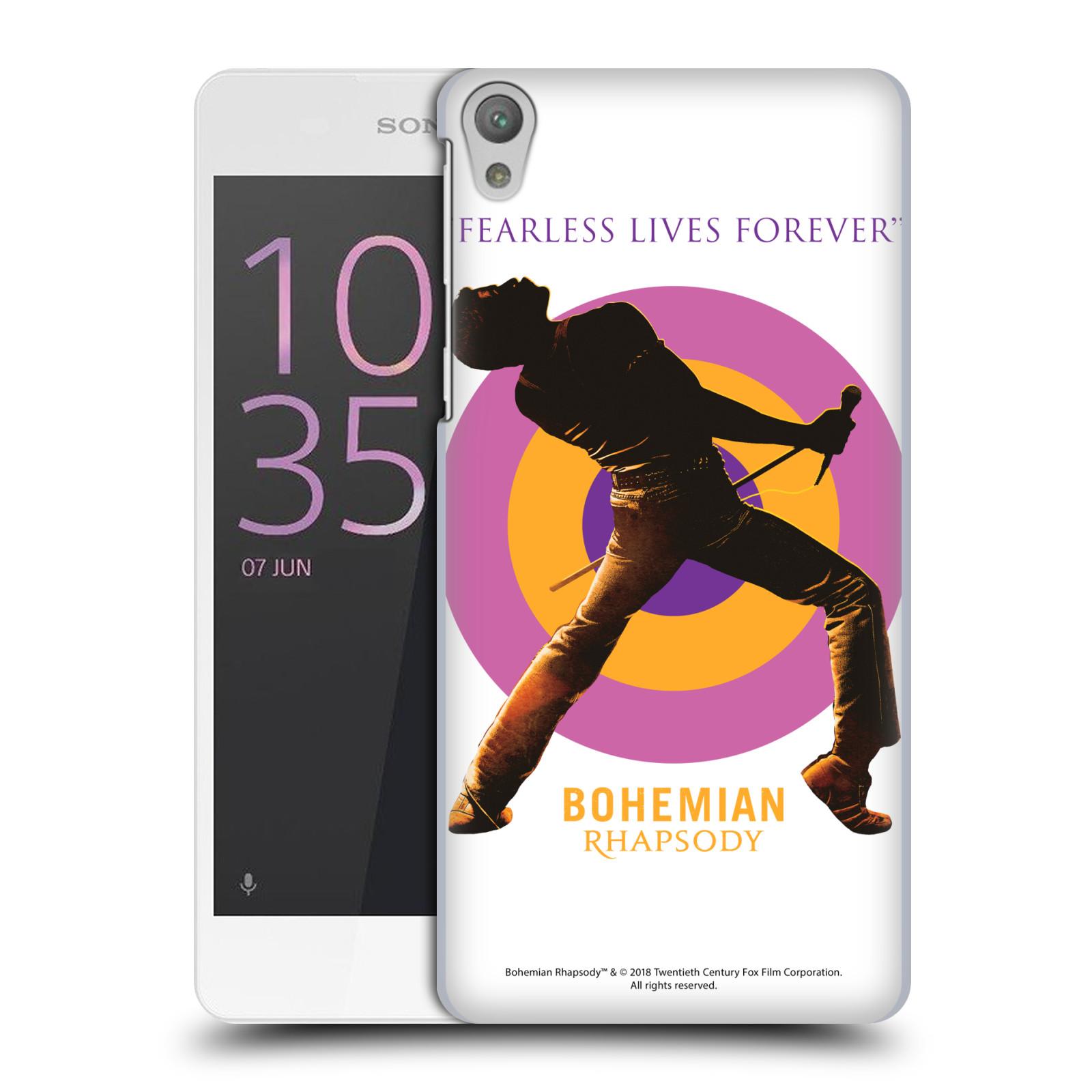 Pouzdro na mobil Sony Xperia E5 Filmový motiv Bohemian Rhapsody Queen silueta
