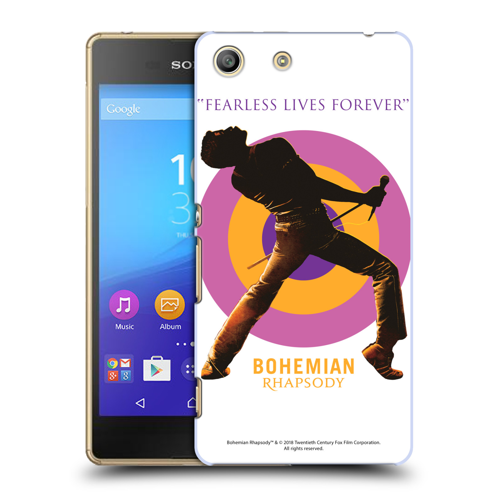 Pouzdro na mobil Sony Xperia M5 Filmový motiv Bohemian Rhapsody Queen silueta