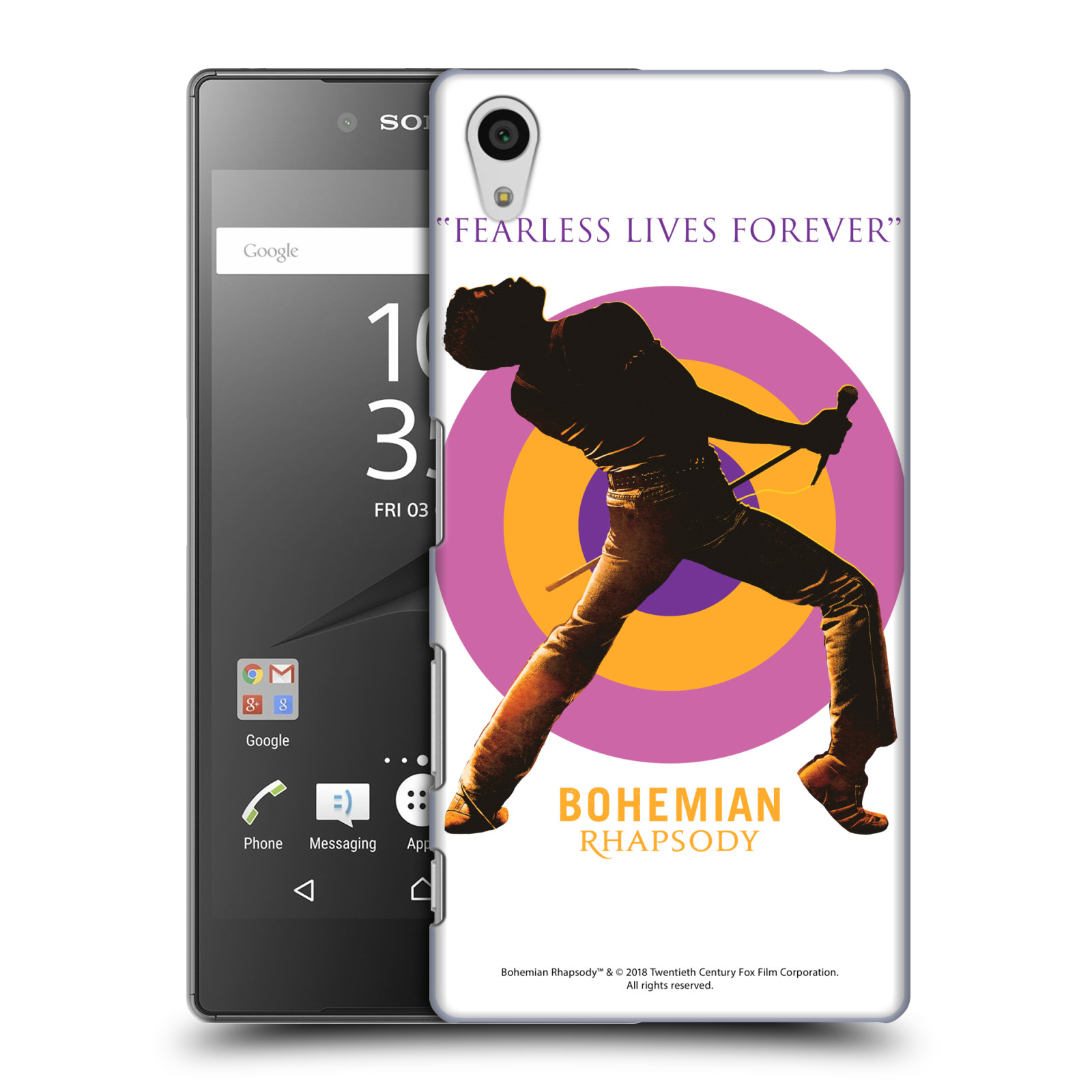 Pouzdro na mobil Sony Xperia Z5 Filmový motiv Bohemian Rhapsody Queen silueta