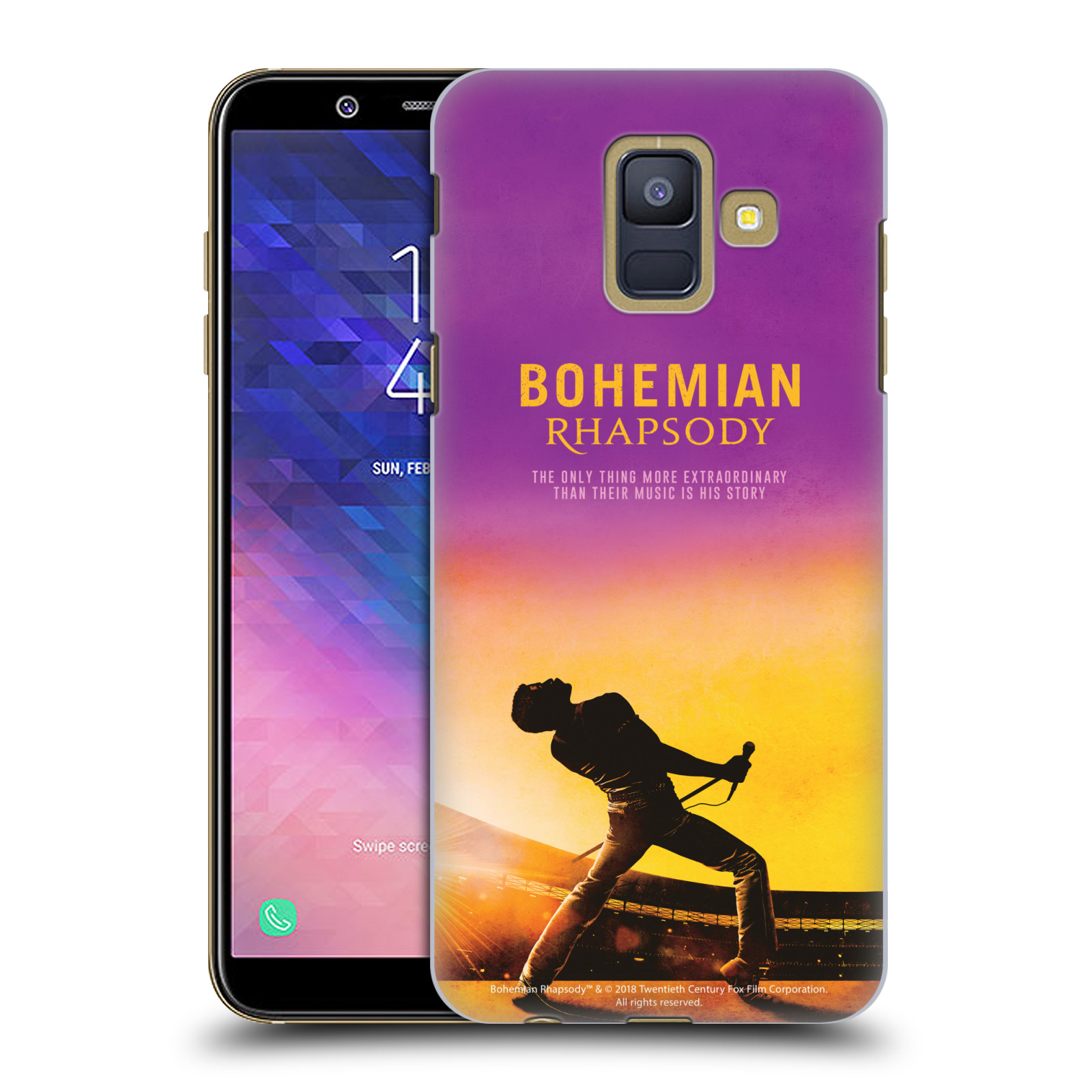 Pouzdro na mobil Samsung Galaxy A6 (A600) Filmový motiv Bohemian Rhapsody Queen