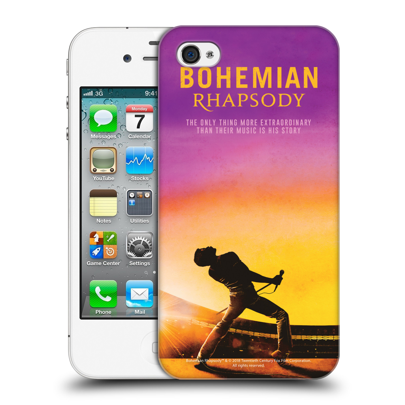 Pouzdro na mobil Apple Iphone 4/4S Filmový motiv Bohemian Rhapsody Queen