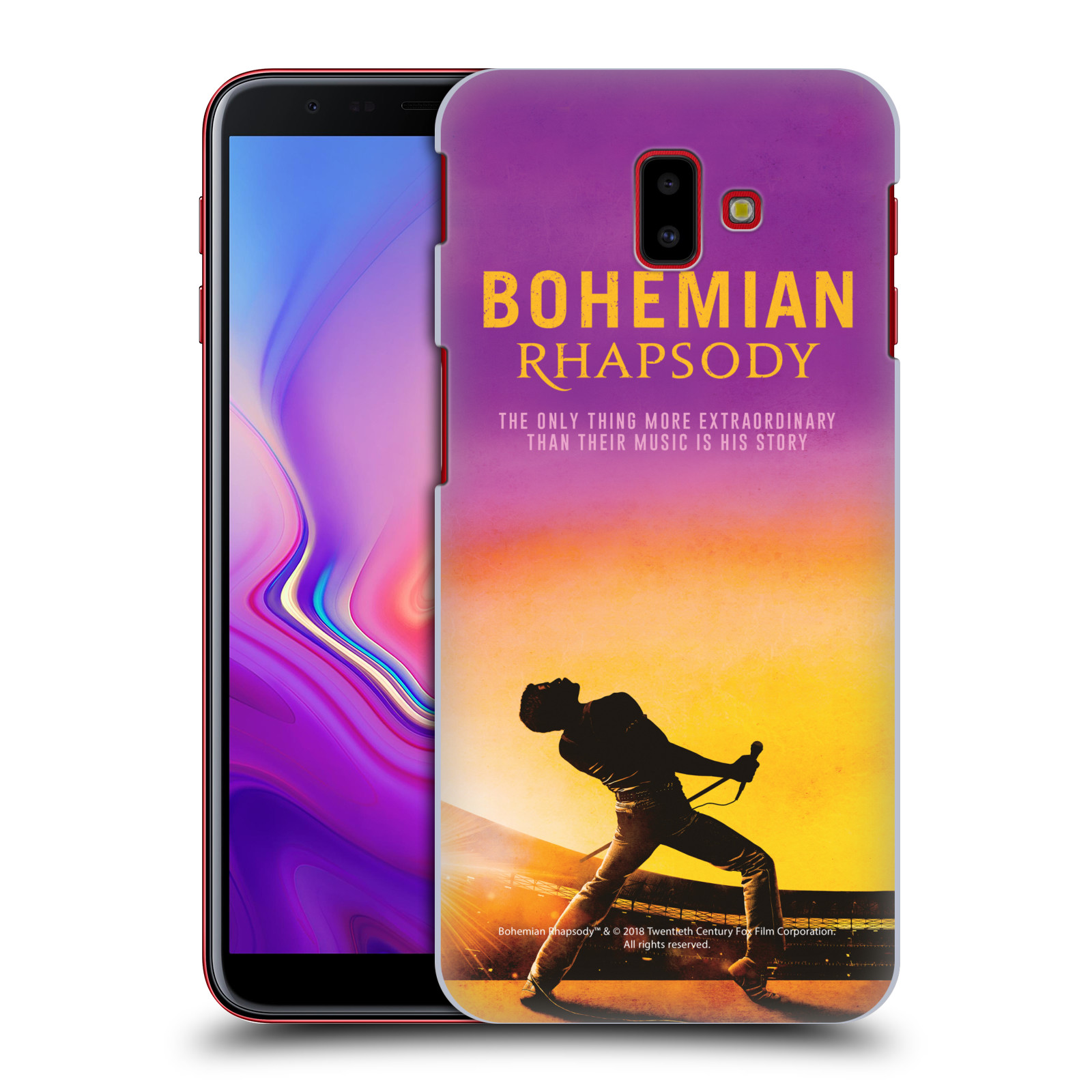Pouzdro na mobil Samsung Galaxy J6+ Filmový motiv Bohemian Rhapsody Queen