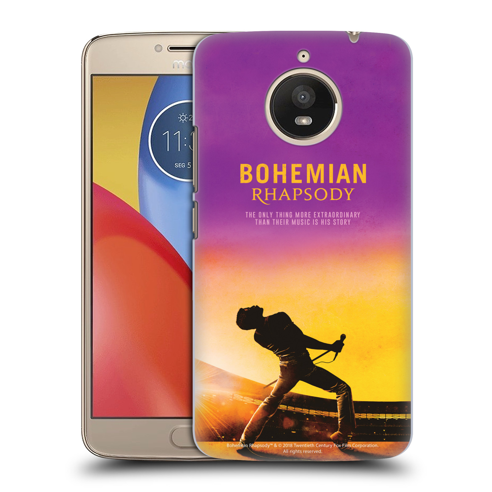 Pouzdro na mobil Lenovo Moto E4 PLUS Filmový motiv Bohemian Rhapsody Queen