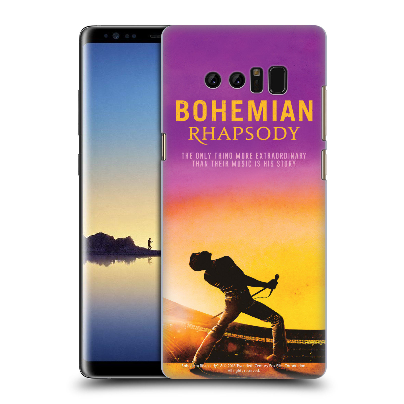 Pouzdro na mobil Samsung Galaxy Note 8 Filmový motiv Bohemian Rhapsody Queen