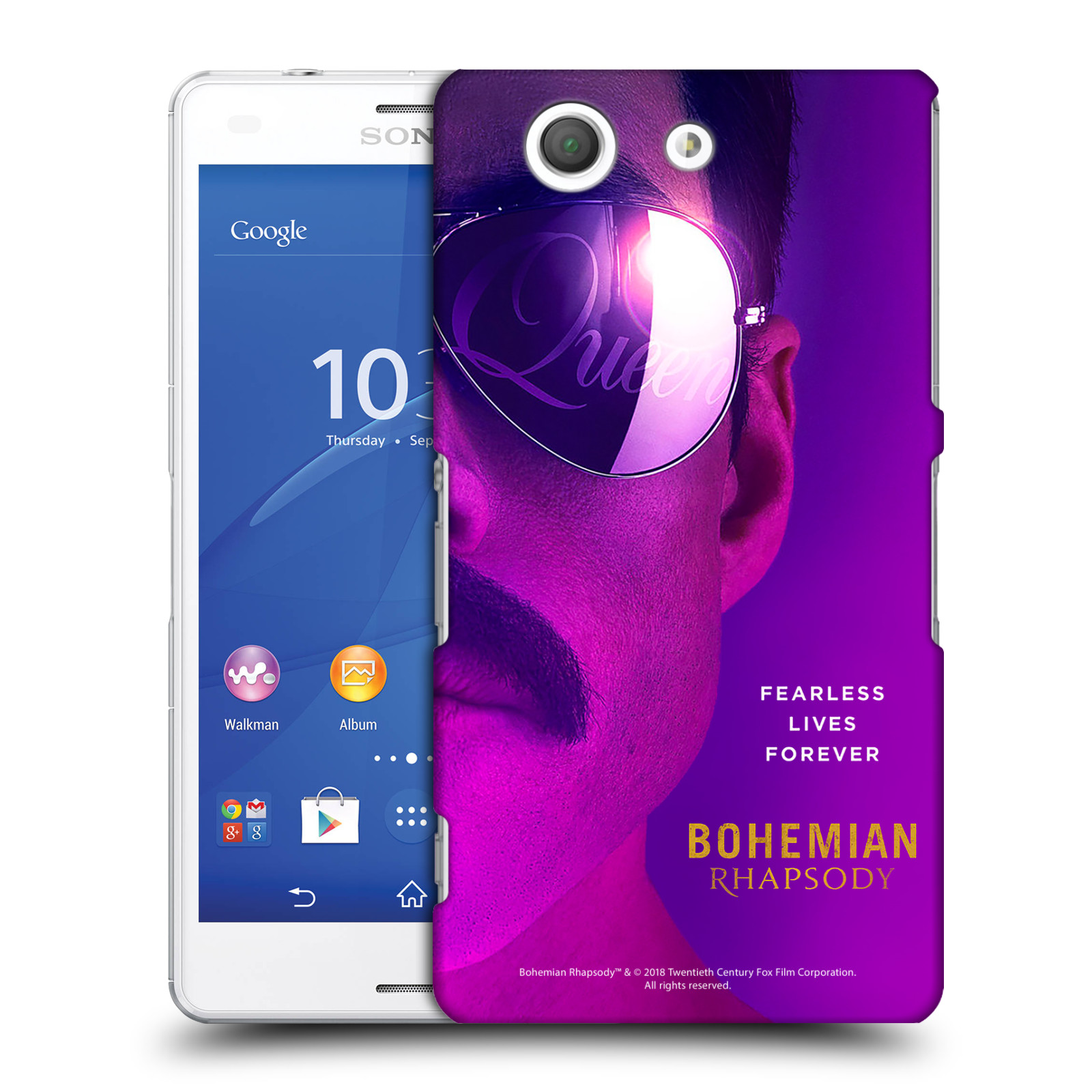 Pouzdro na mobil Sony Xperia Z3 COMPACT Filmový motiv Bohemian Rhapsody Queen Tvář