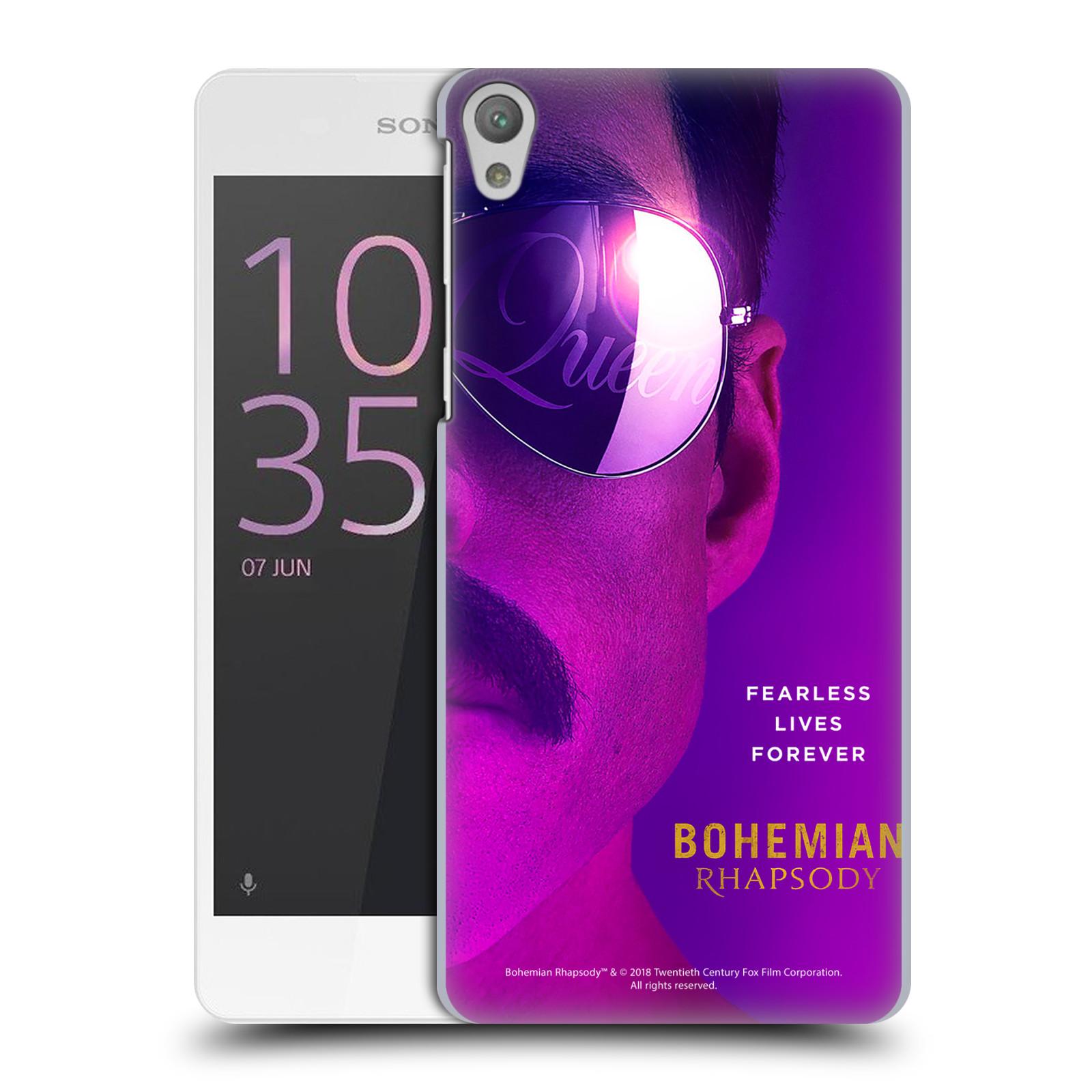 Pouzdro na mobil Sony Xperia E5 Filmový motiv Bohemian Rhapsody Queen Tvář