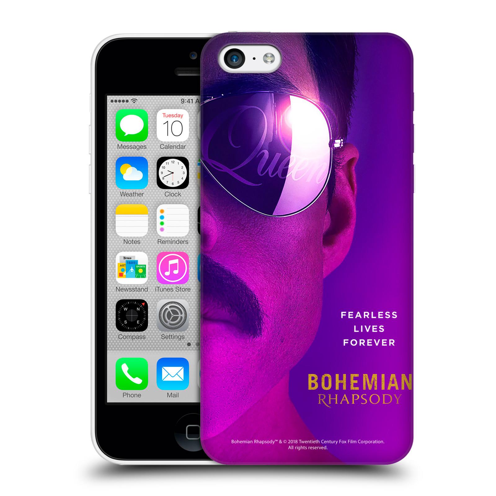 Pouzdro na mobil Apple Iphone 5C Filmový motiv Bohemian Rhapsody Queen Tvář