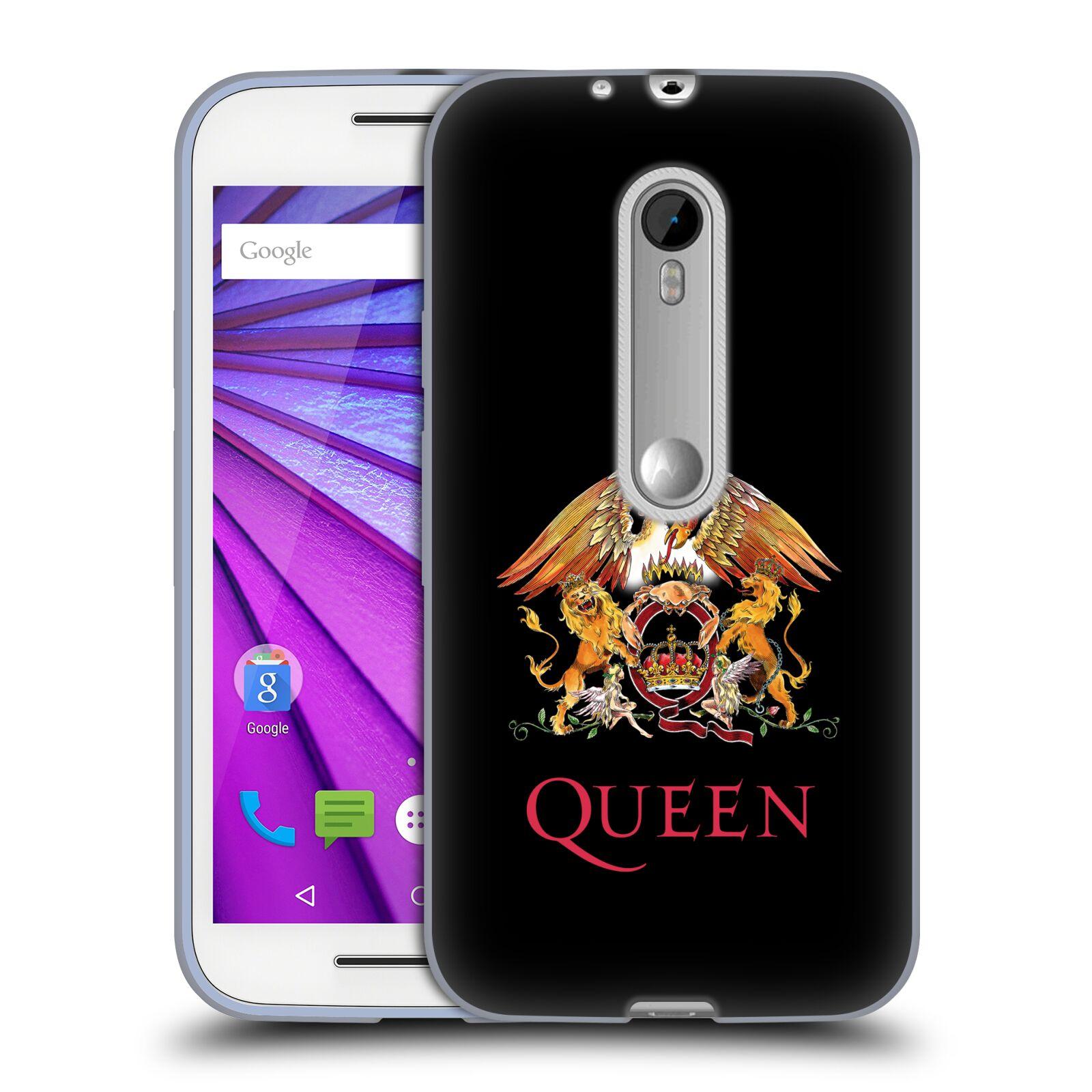 HEAD CASE silikonový obal na mobil Lenovo Moto G (3. generace) kapela Queen znak
