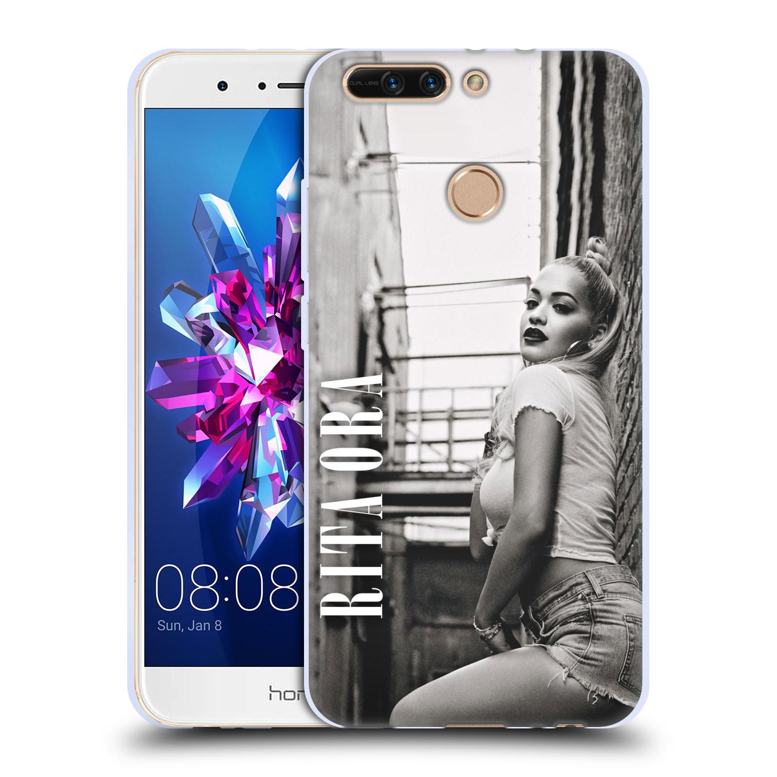 HEAD CASE silikonový obal na mobil Huawei HONOR 8 PRO / Honor 8 PRO DUAL SIM zpěvačka Rita Ora foto černobílá