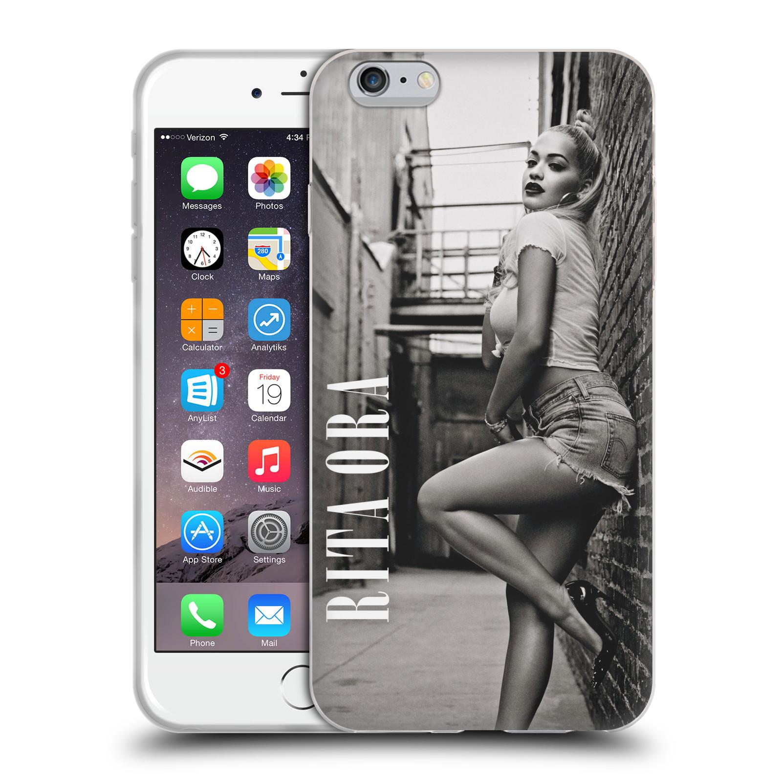 HEAD CASE silikonový obal na mobil Apple Iphone 6/6S PLUS zpěvačka Rita Ora foto černobílá