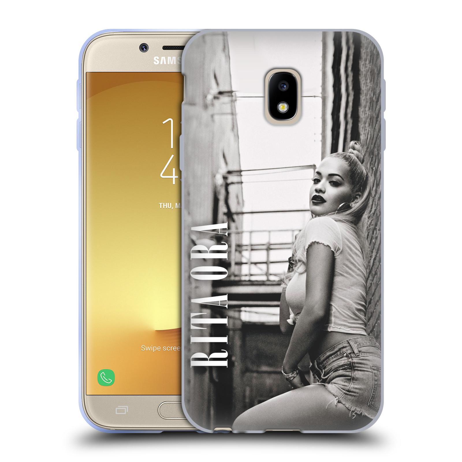 HEAD CASE silikonový obal na mobil Samsung Galaxy J3 2017 (J330, J330F) zpěvačka Rita Ora foto černobílá