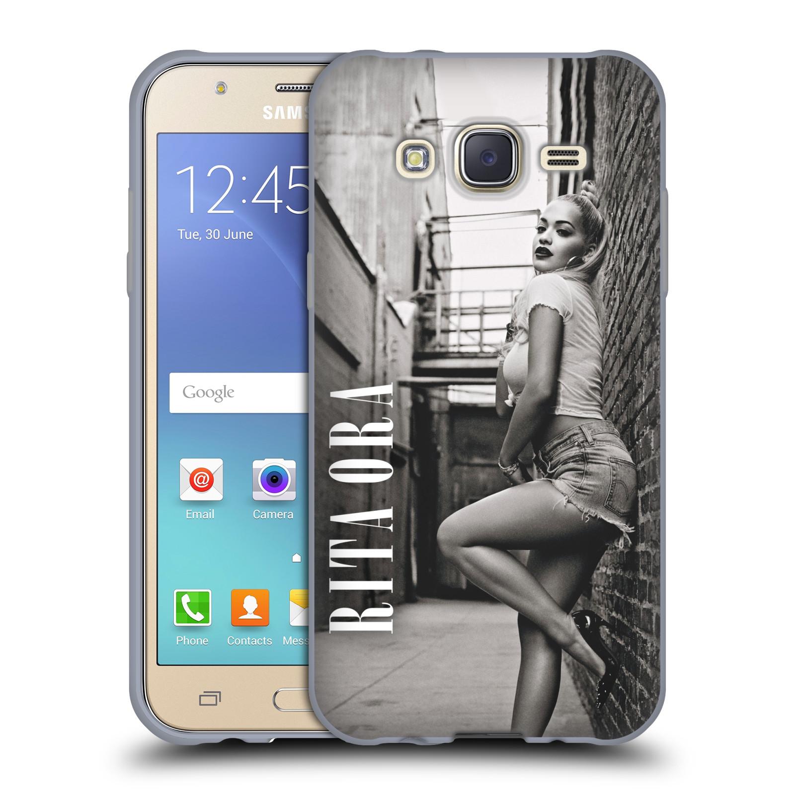HEAD CASE silikonový obal na mobil Samsung Galaxy J5 2015 (J500) zpěvačka Rita Ora foto černobílá