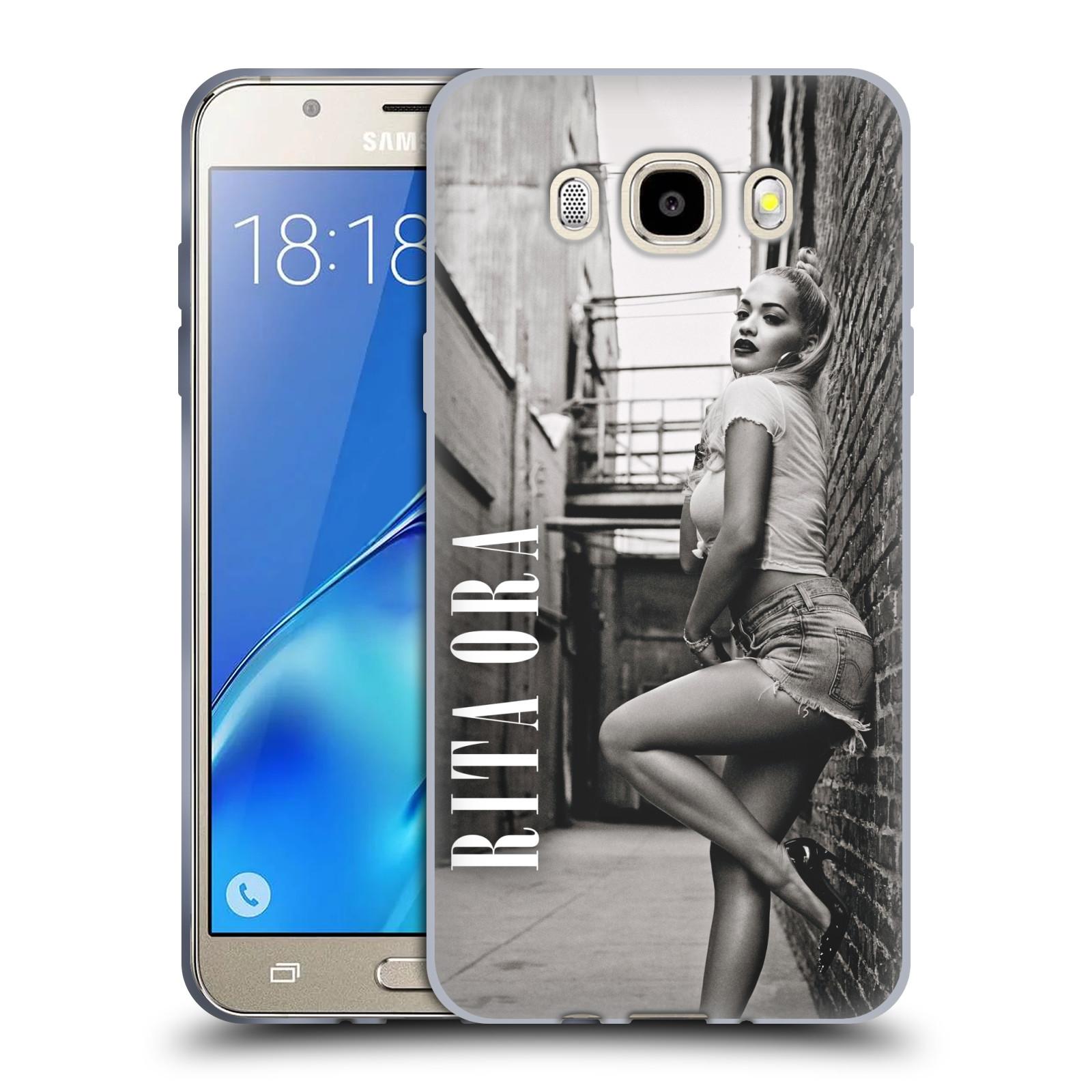 HEAD CASE silikonový obal na mobil Samsung Galaxy J5 2016 (J510) zpěvačka Rita Ora foto černobílá