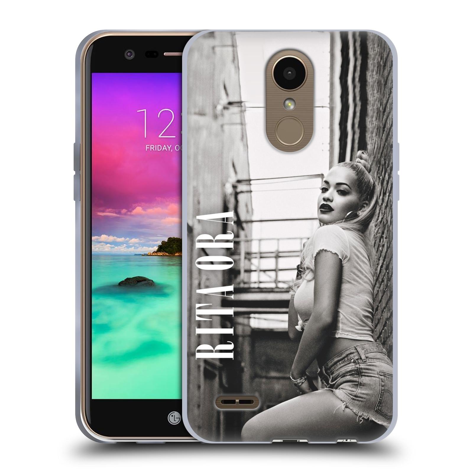 HEAD CASE silikonový obal na mobil LG K10 2017 / K10 2017 DUAL SIM zpěvačka Rita Ora foto černobílá
