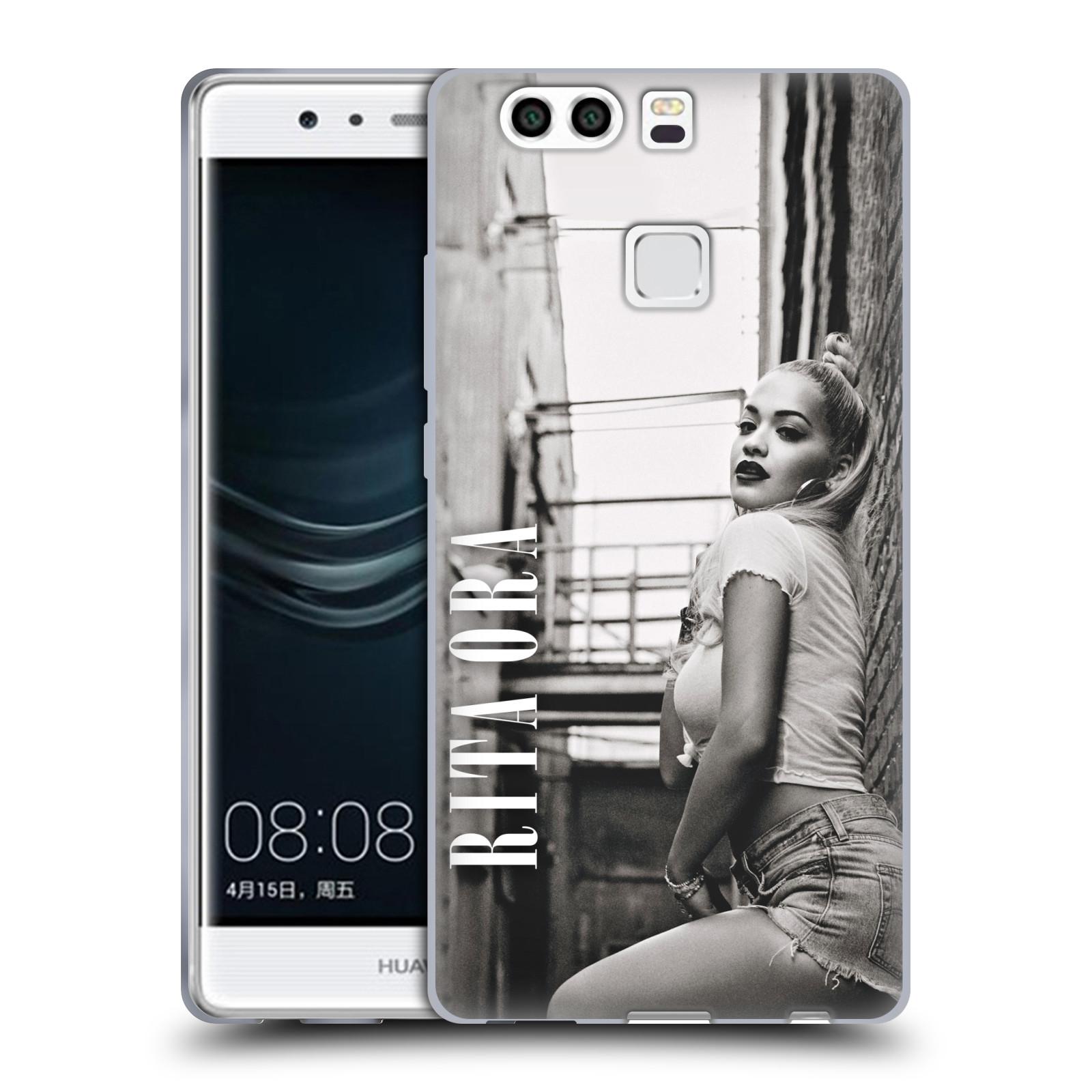HEAD CASE silikonový obal na mobil Huawei P9 PLUS / P9 PLUS DUAL SIM zpěvačka Rita Ora foto černobílá