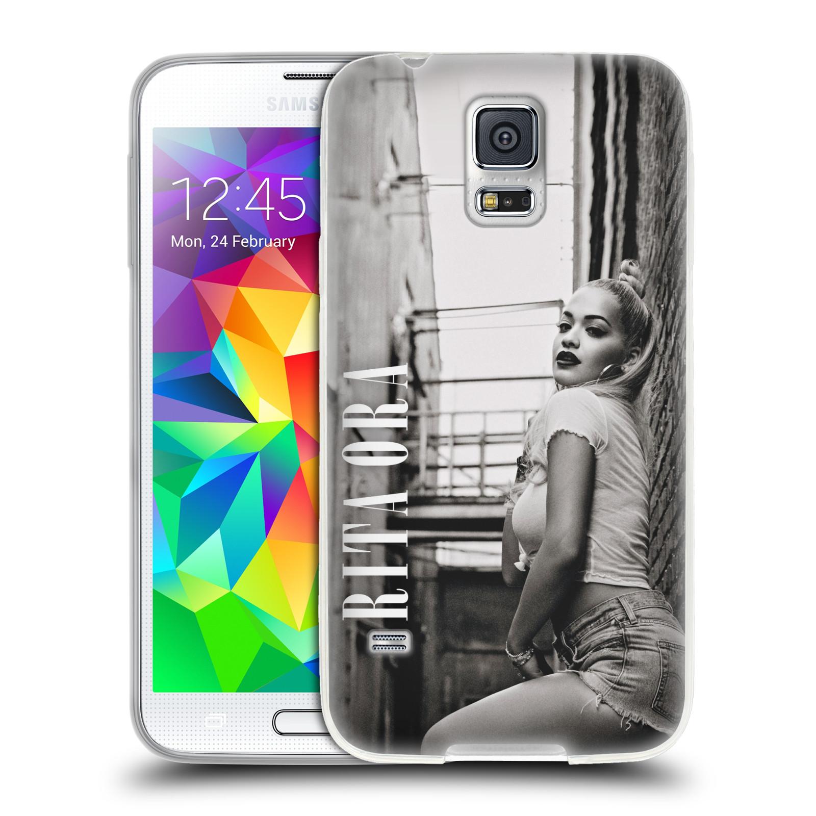 HEAD CASE silikonový obal na mobil Samsung Galaxy S5 zpěvačka Rita Ora foto černobílá