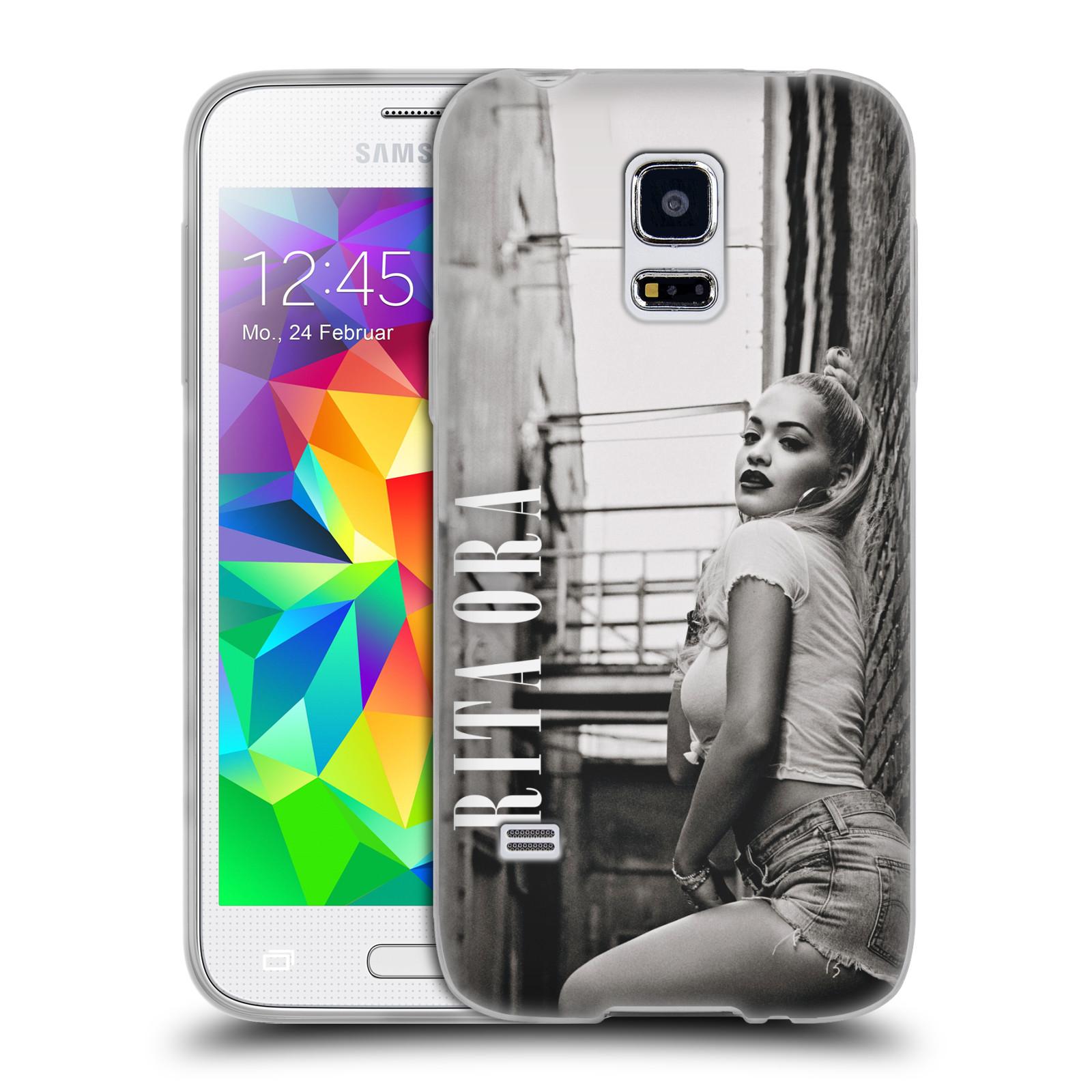 HEAD CASE silikonový obal na mobil Samsung Galaxy S5 MINI zpěvačka Rita Ora foto černobílá
